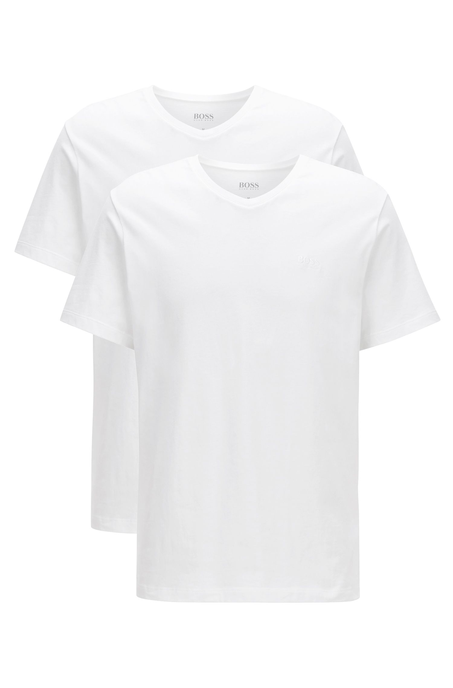 Two-pack of relaxed-fit V-neck cotton T-shirts