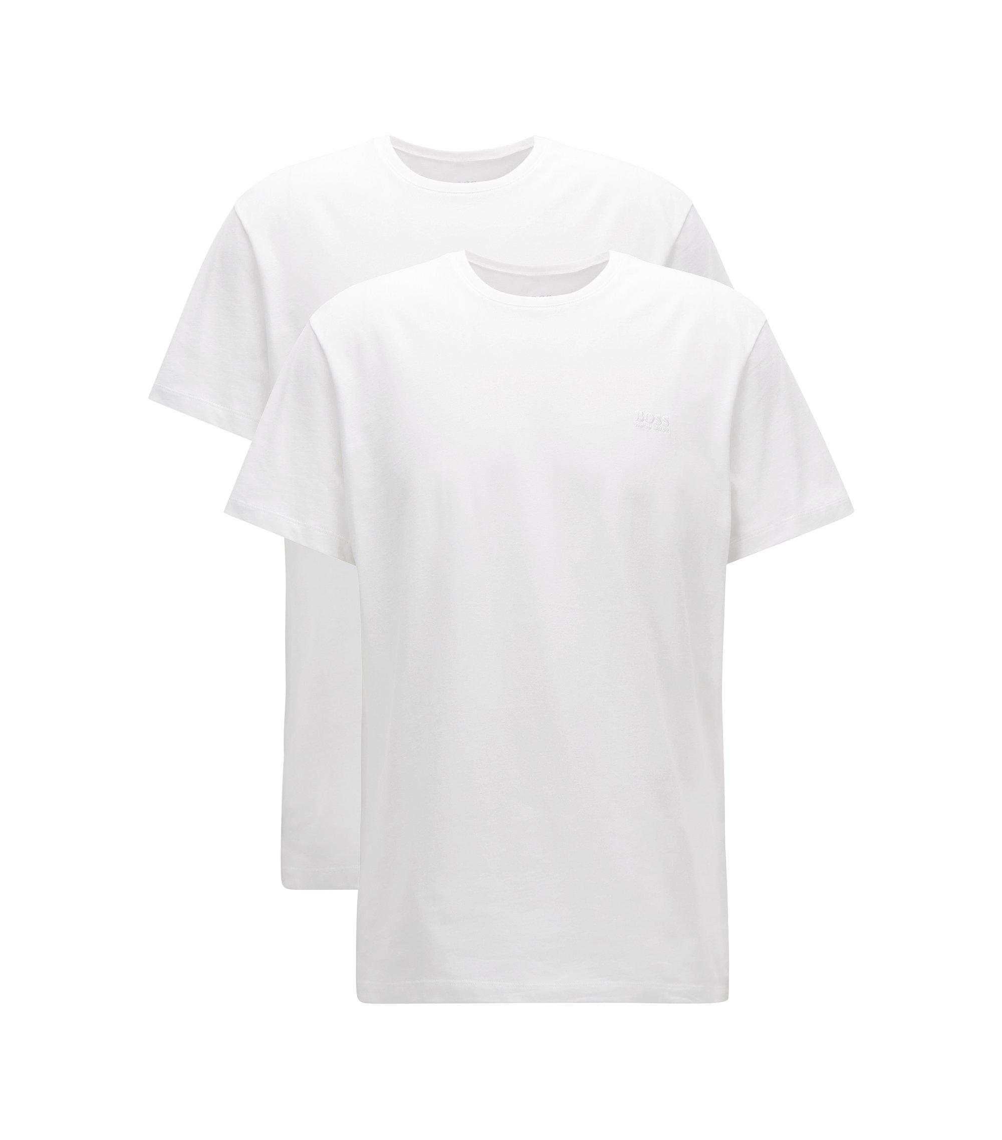 Zweier-Pack Relaxed-Fit T-Shirts aus Baumwolle mit Rundhalsausschnitt, Weiß