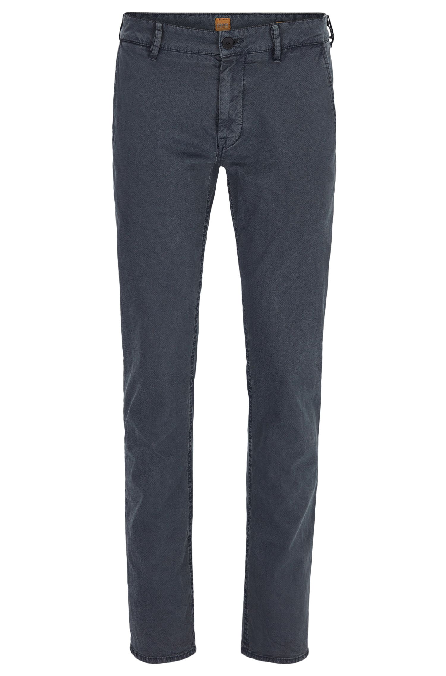 Slim-fit trousers in Italian stretch cotton
