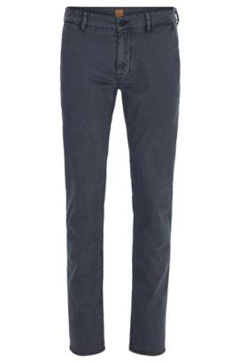Slim-Fit Hose aus italienischer Stretch-Baumwolle, Dunkelblau