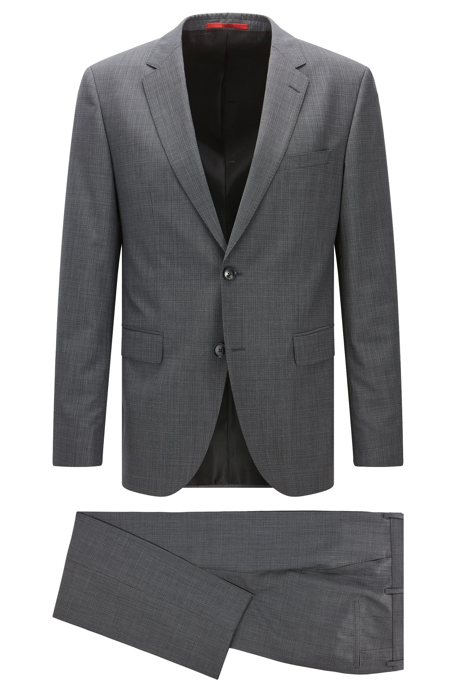 Regular-fit long-length suit in a wool blend