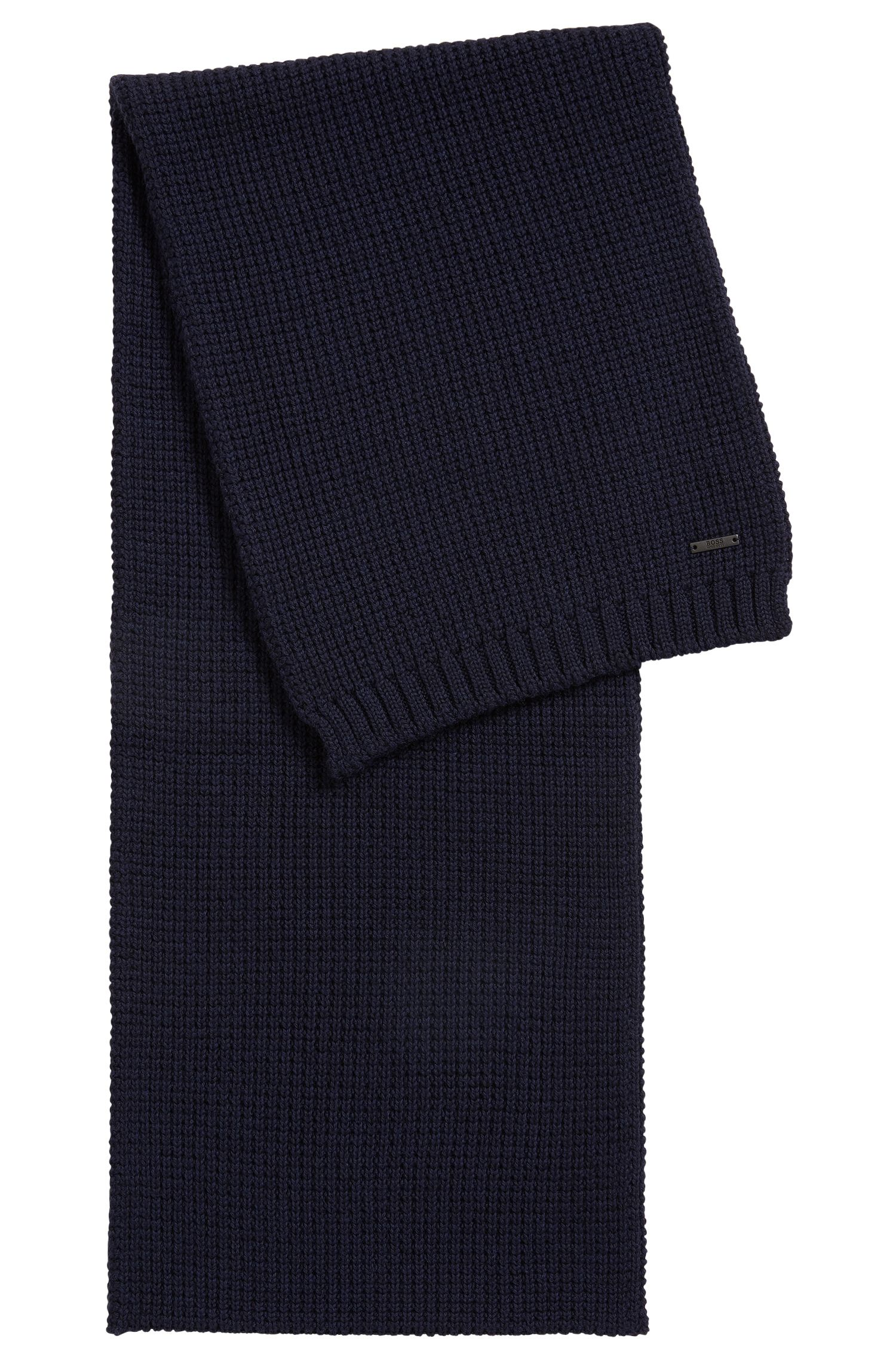 Sjaal van scheerwol in wafelsteek