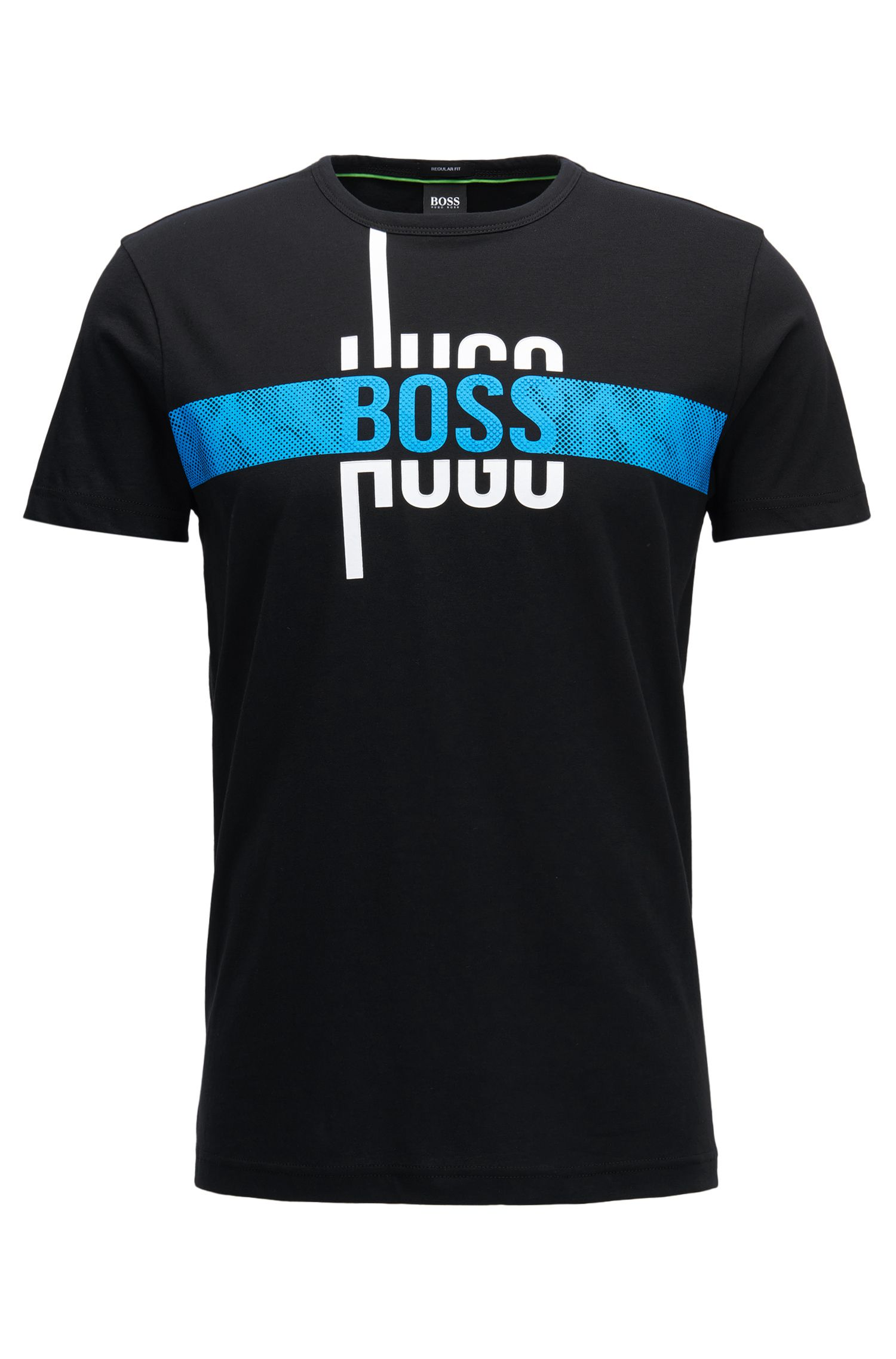 Camiseta regular fit con logo en algodón