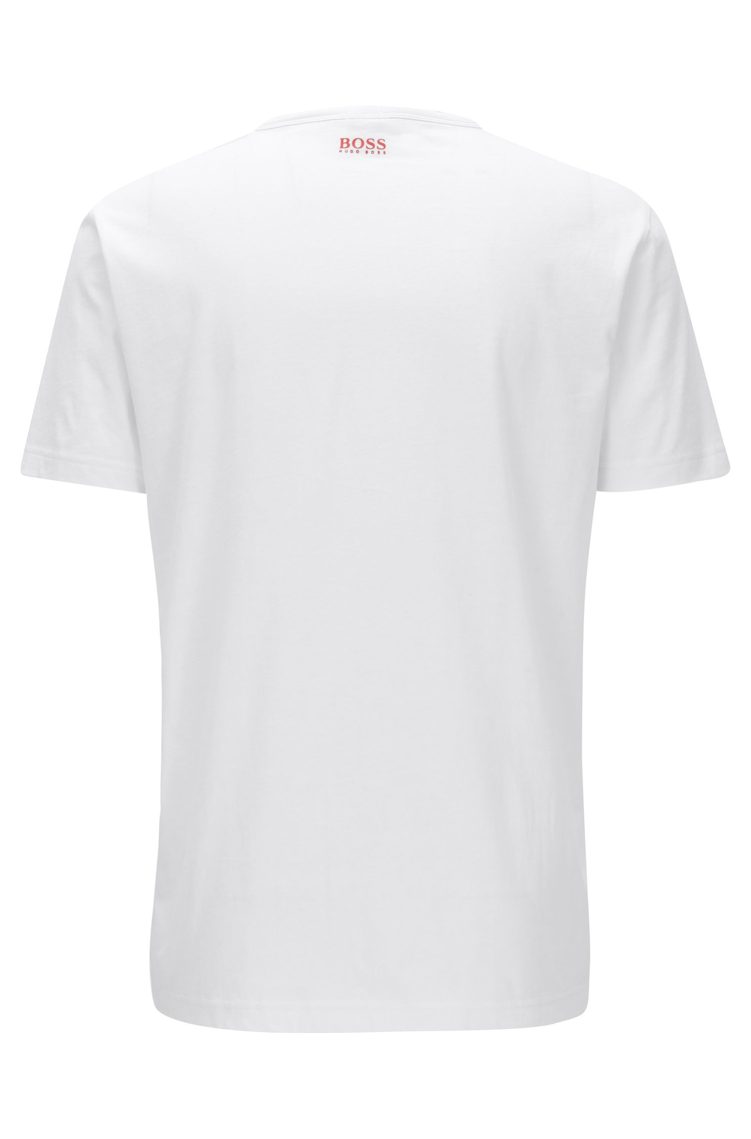 Regular-Fit T-Shirt aus reiner Baumwolle mit Logo