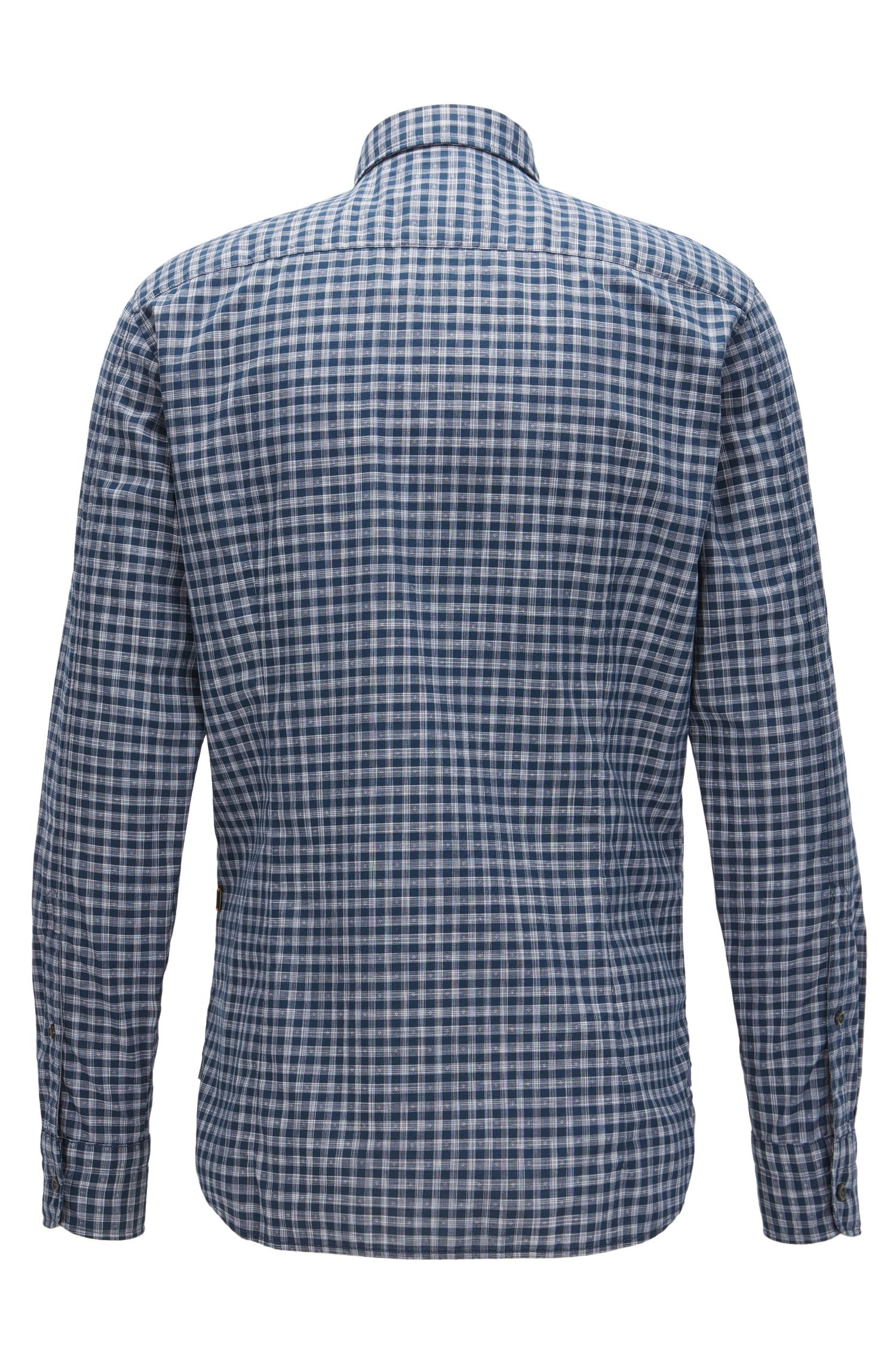 Vichy-check cotton shirt in a slim fit