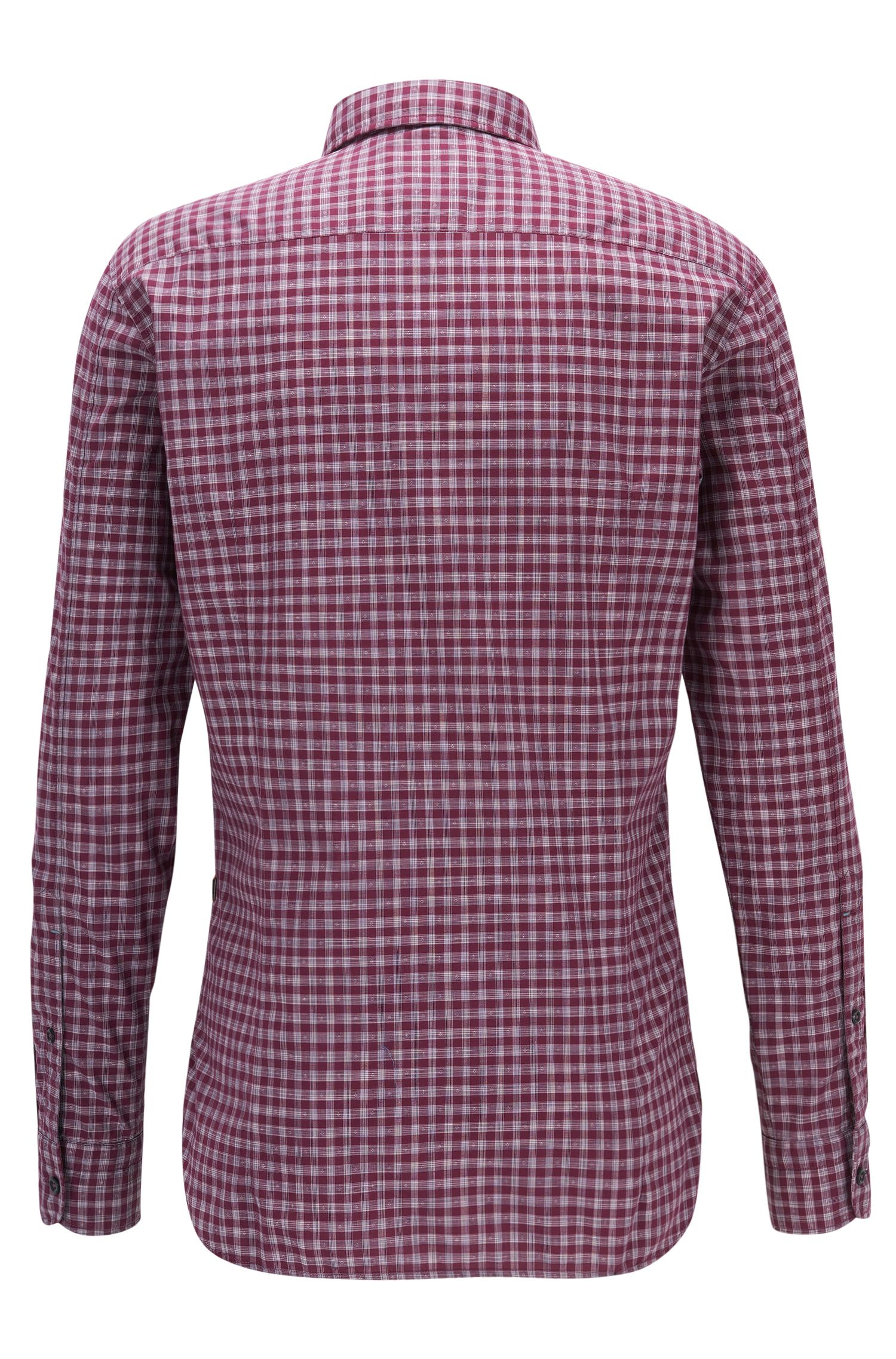 Camicia slim fit in cotone a quadri Vichy