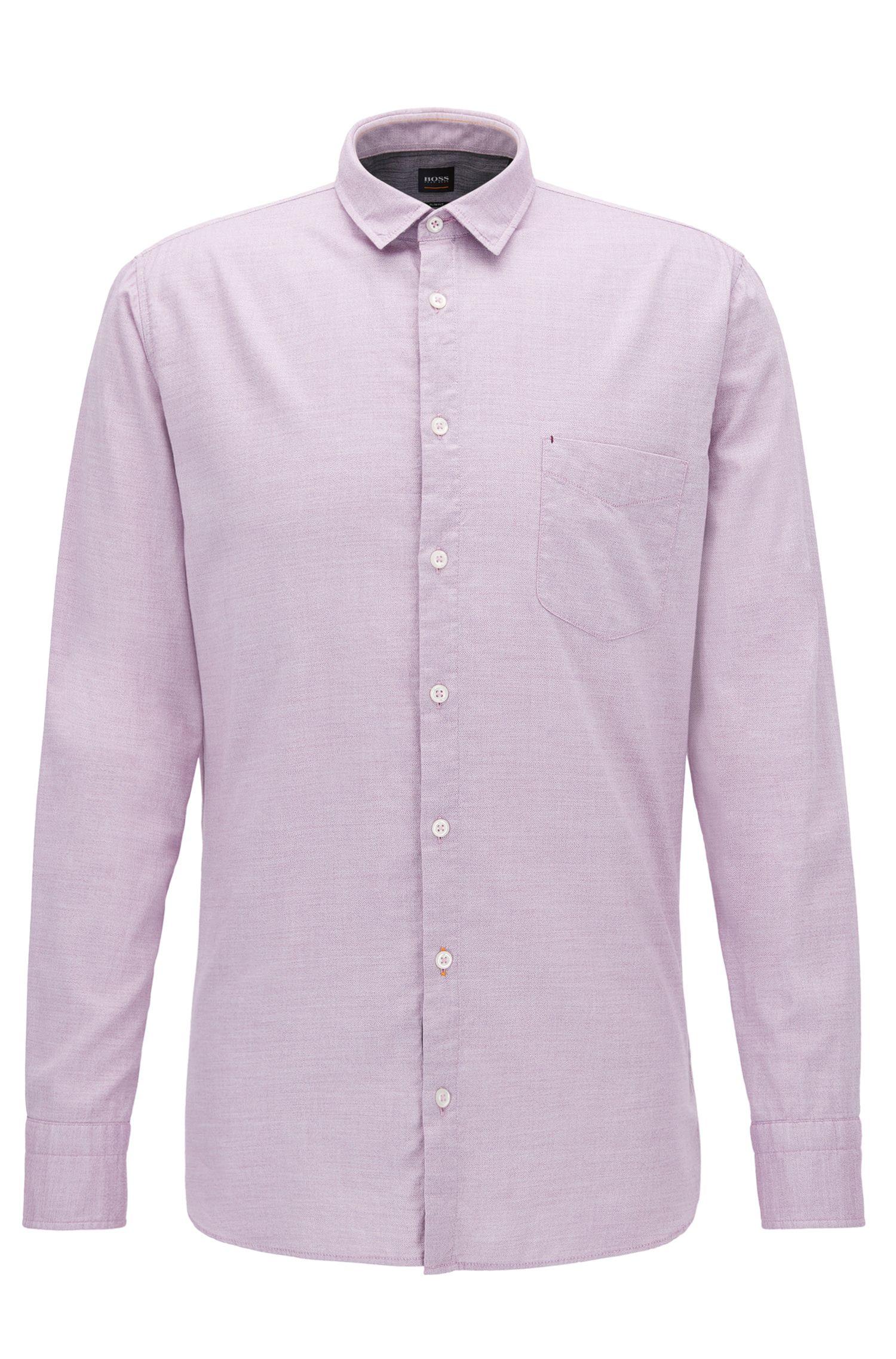 Slim-Fit Hemd aus Baumwoll-Mix