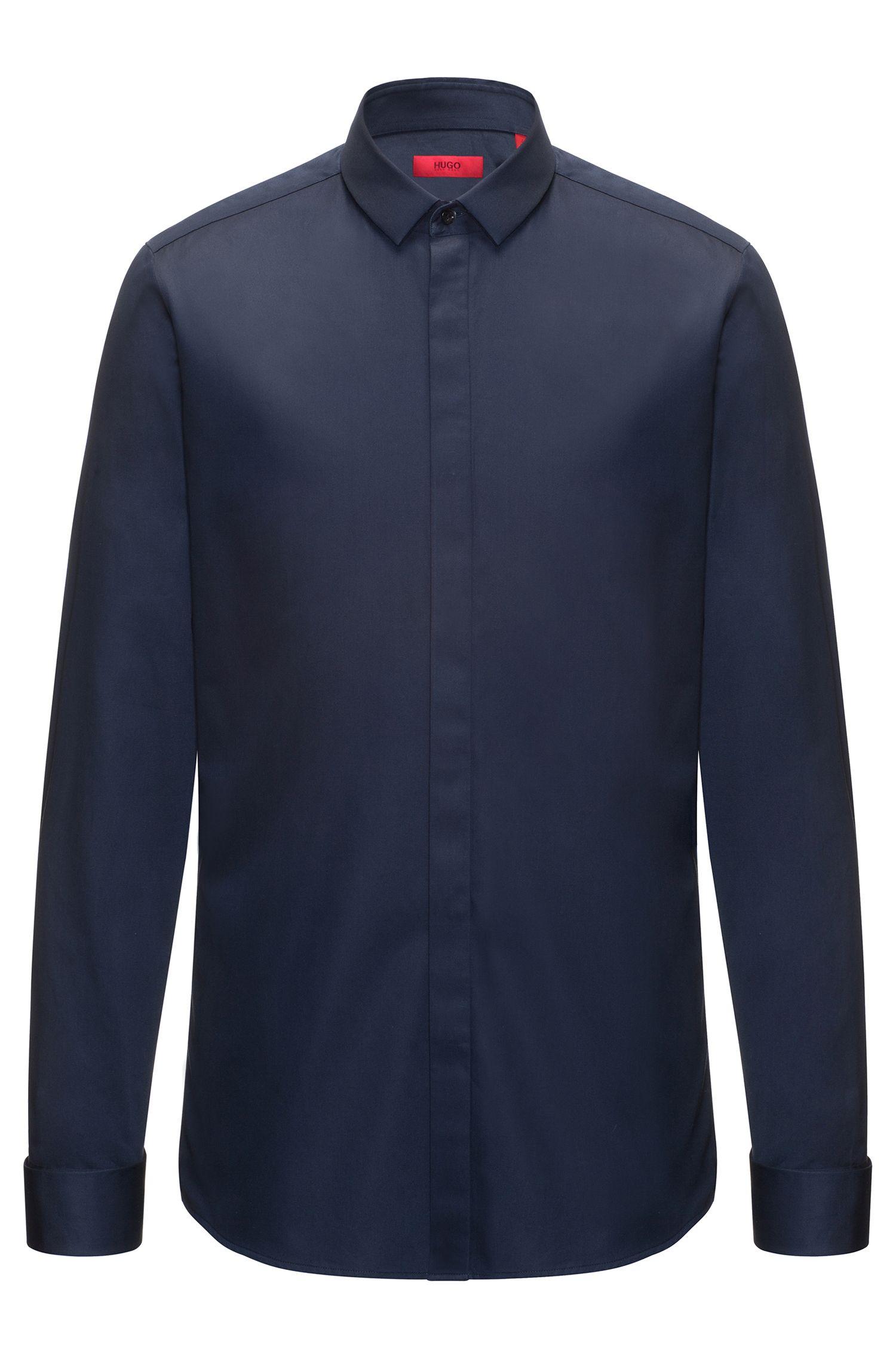 Camicia extra slim fit in cotone effetto satin