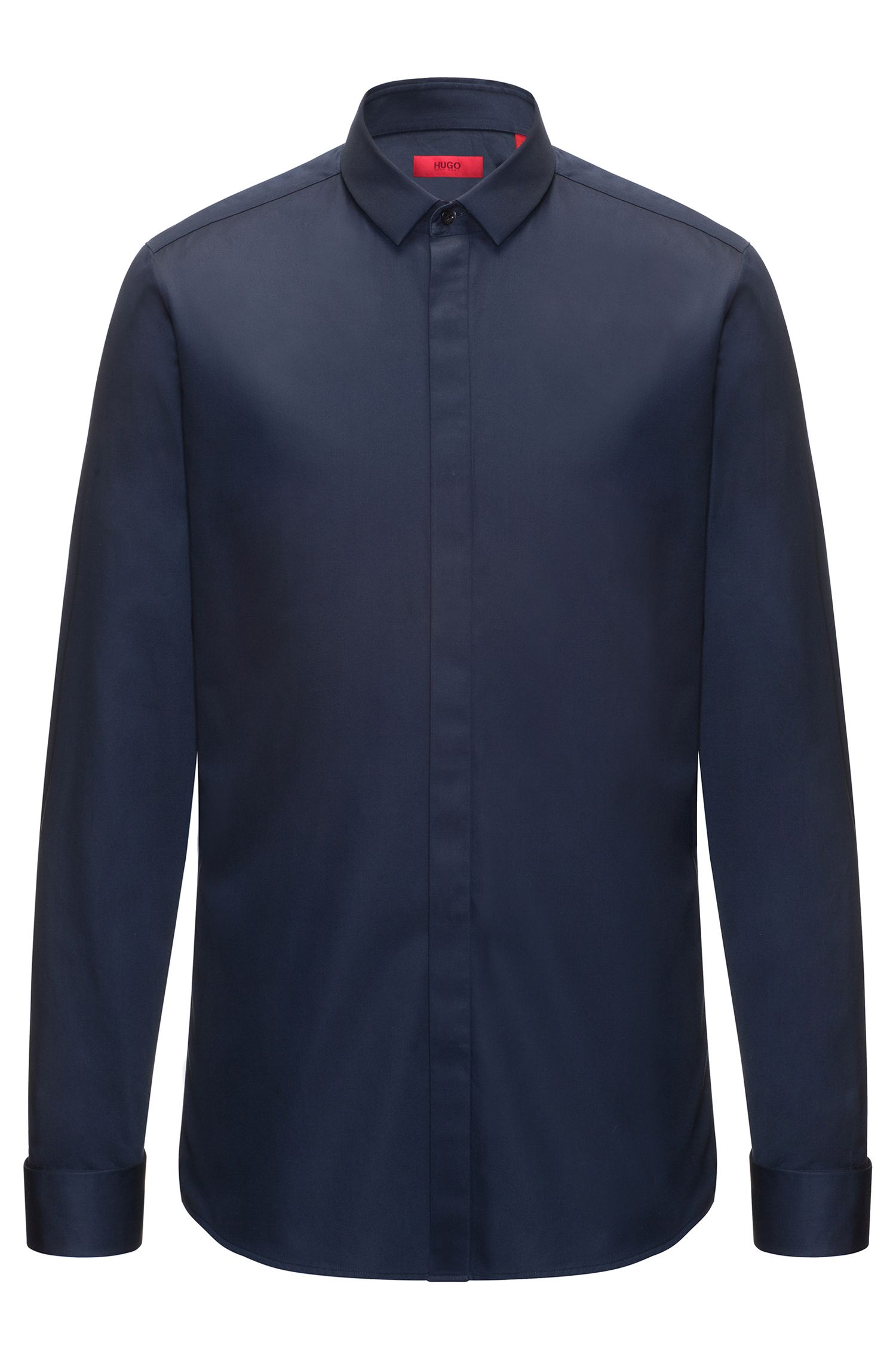 Extra-slim-fit shirt in satin cotton