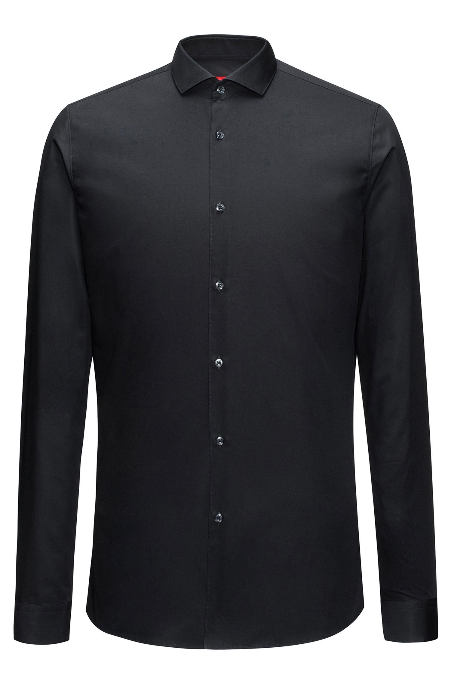 Extra-slim-fit shirt in cotton poplin