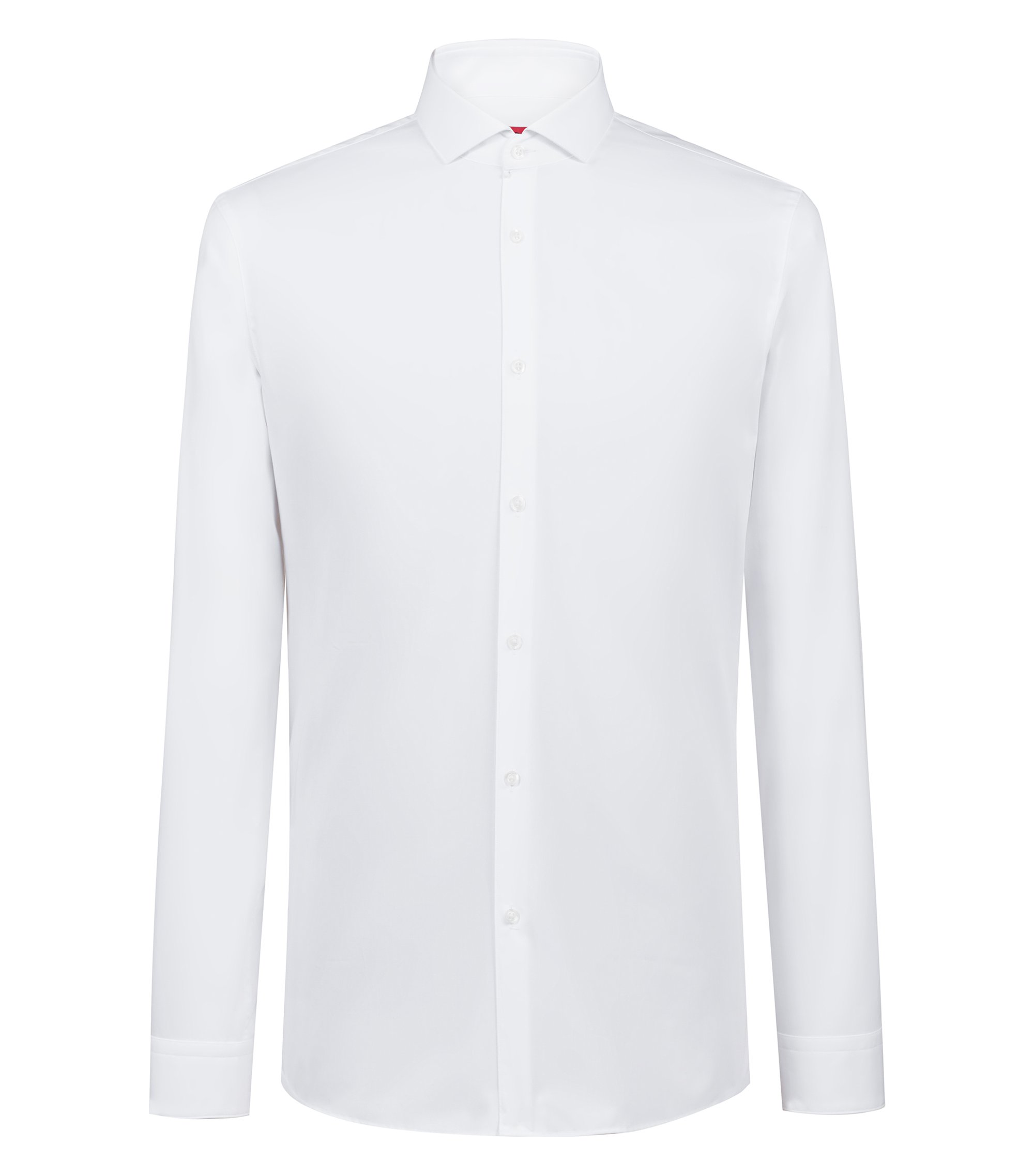 Extra-slim-fit shirt in cotton poplin, White