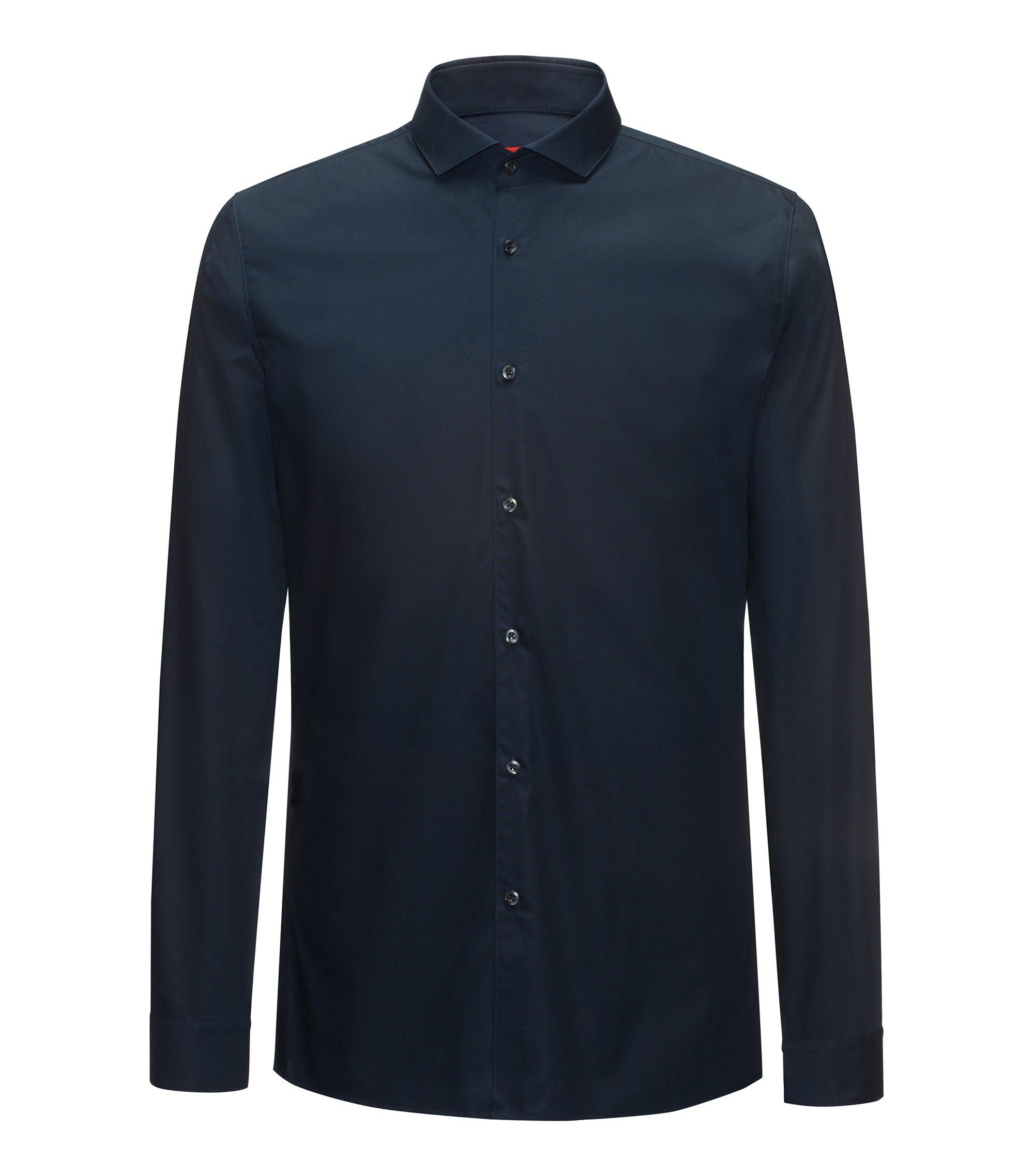 Extra Slim-Fit Hemd aus Baumwoll-Popeline, Dunkelblau