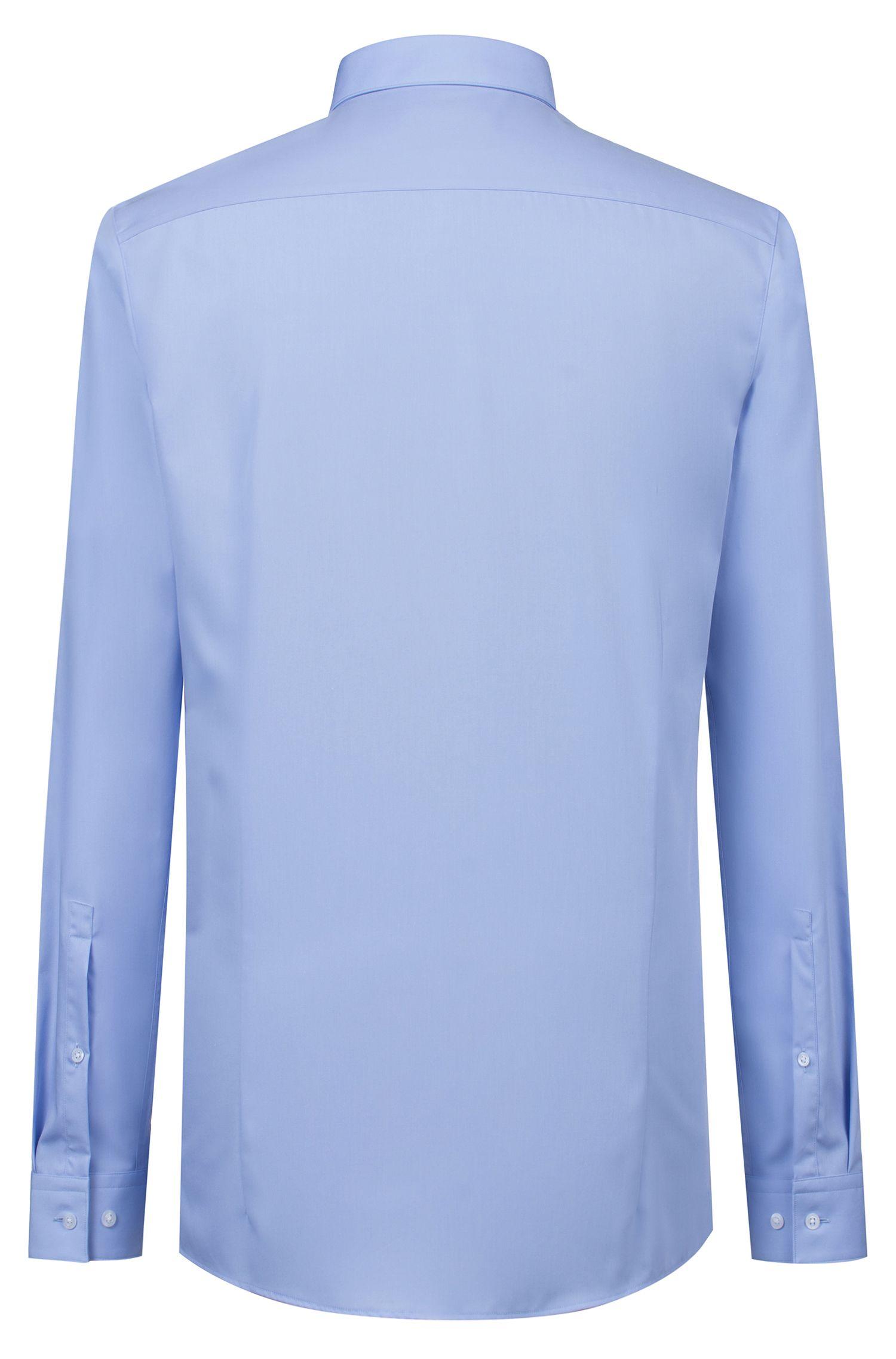Extra-slim-fit shirt in cotton poplin, Light Blue