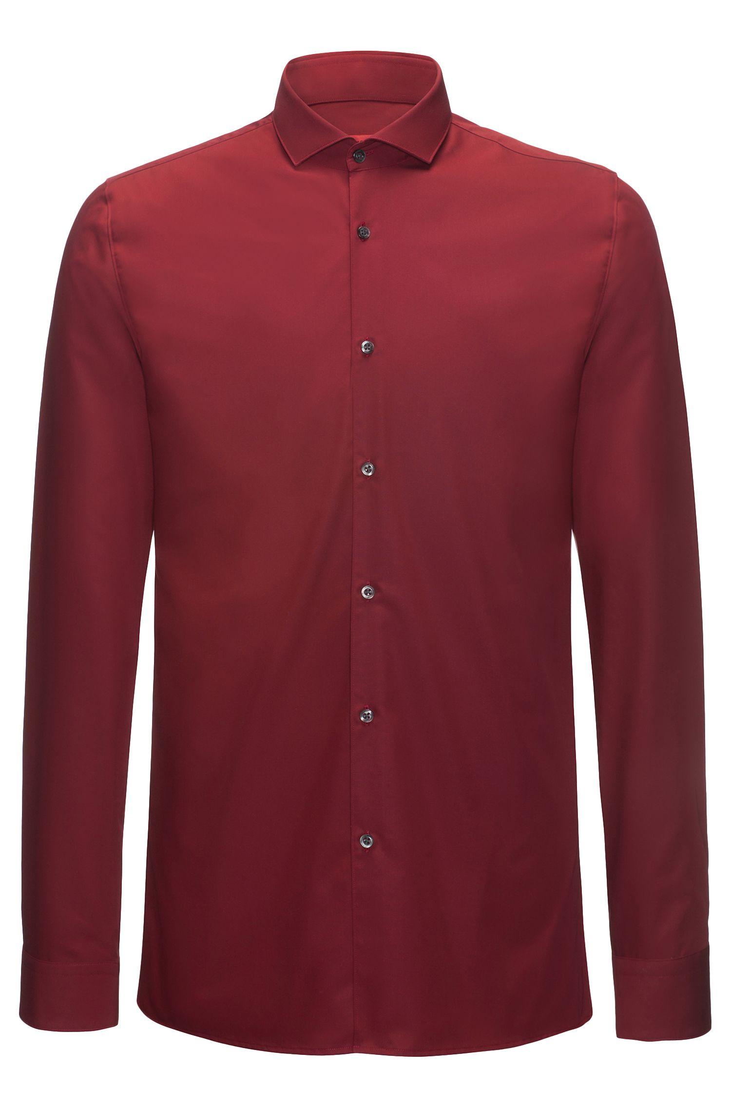 Extra slim-fit overhemd van katoenpopeline