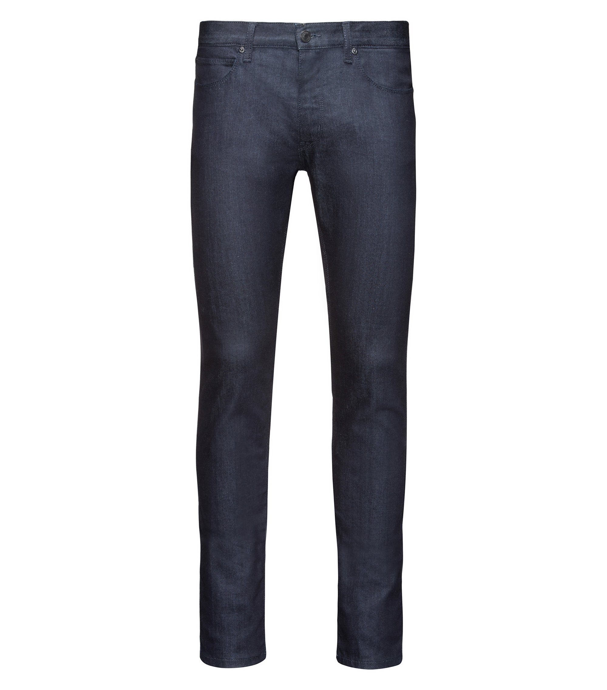Skinny-Fit Hüftjeans aus Stretch Denim, Dunkelblau