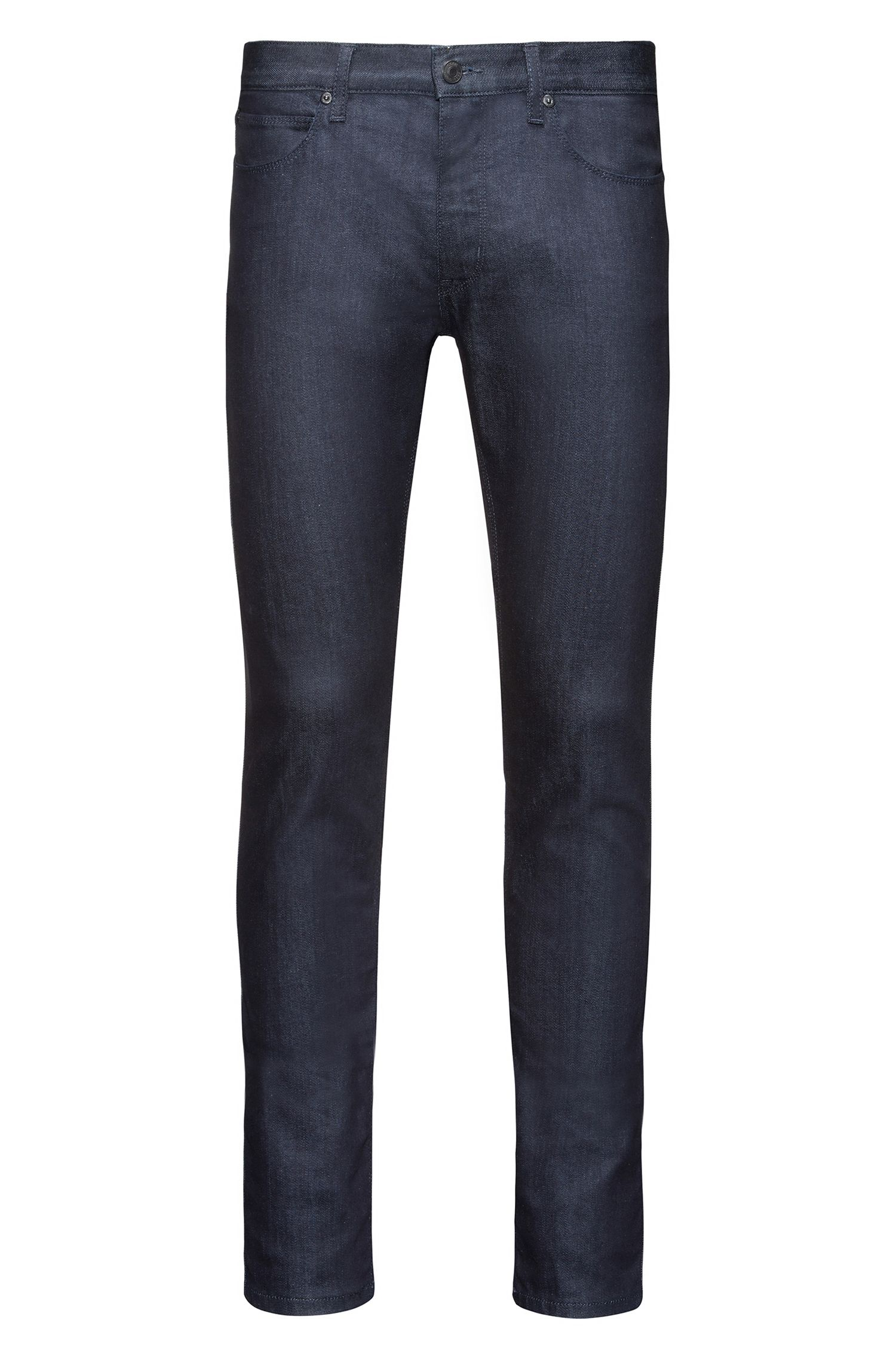 Skinny-fit low-rise jeans in stay-blue stretch denim
