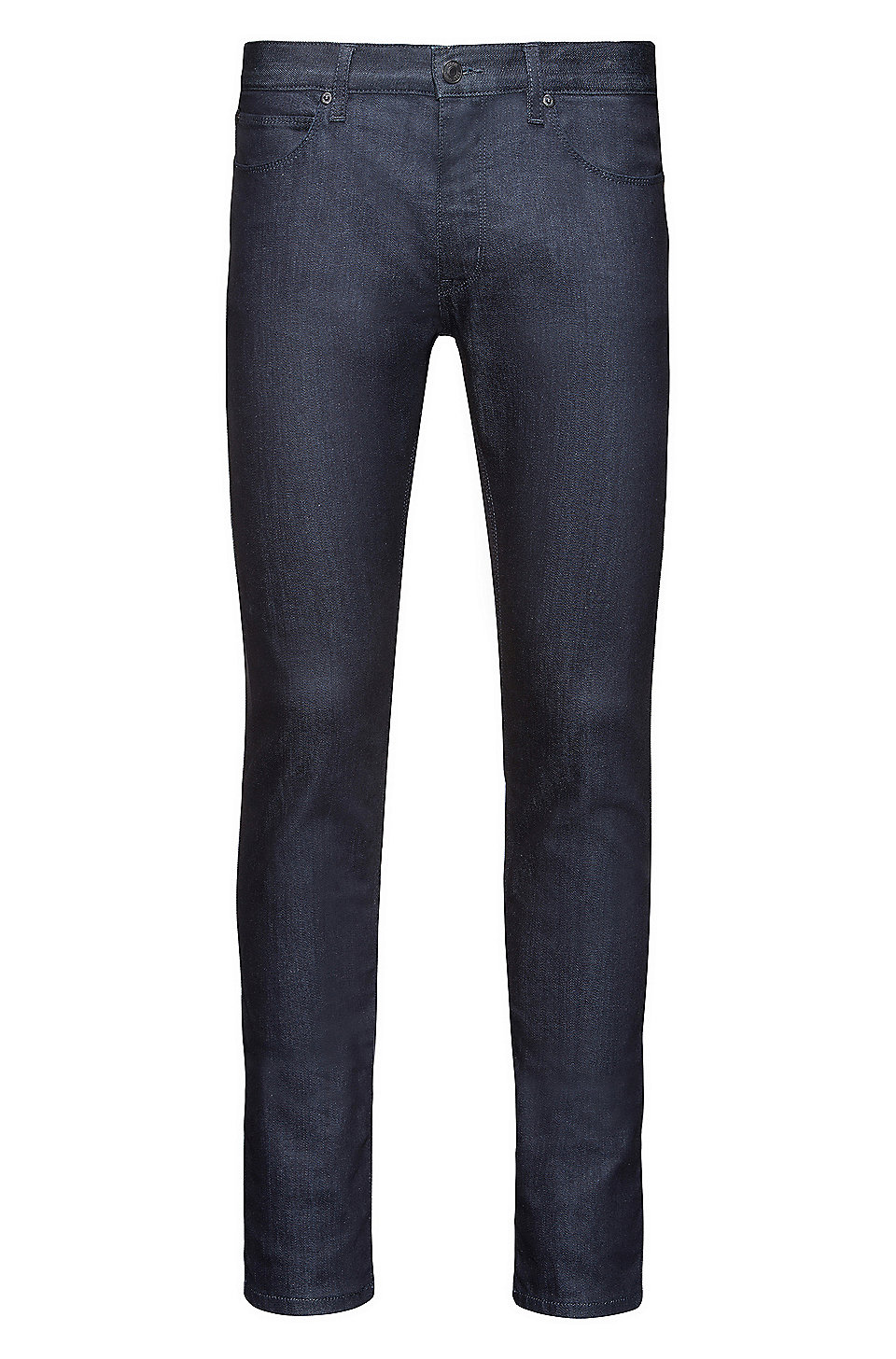 Skinny-fit low-rise jeans in stay-blue stretch denim HUGO BOSS UEtRD