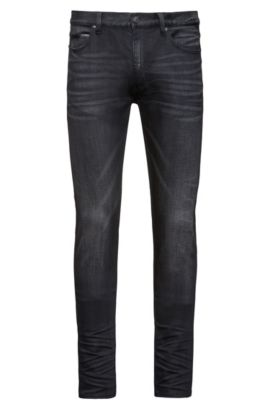 Skinny-fit jeans in comfort-stretch denim, Grey