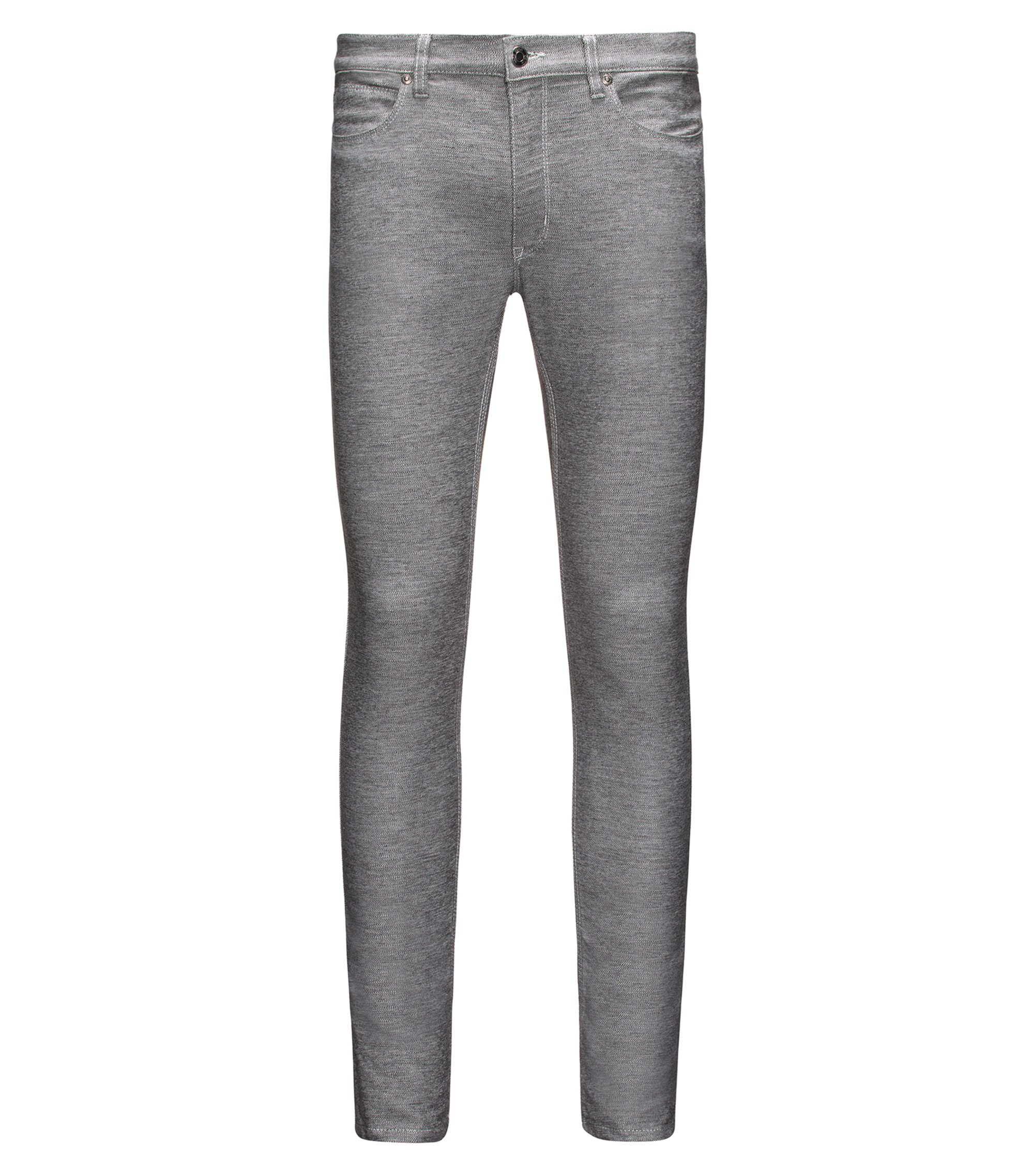 Skinny-fit jeans in dark-grey stretch jersey, Dark Grey