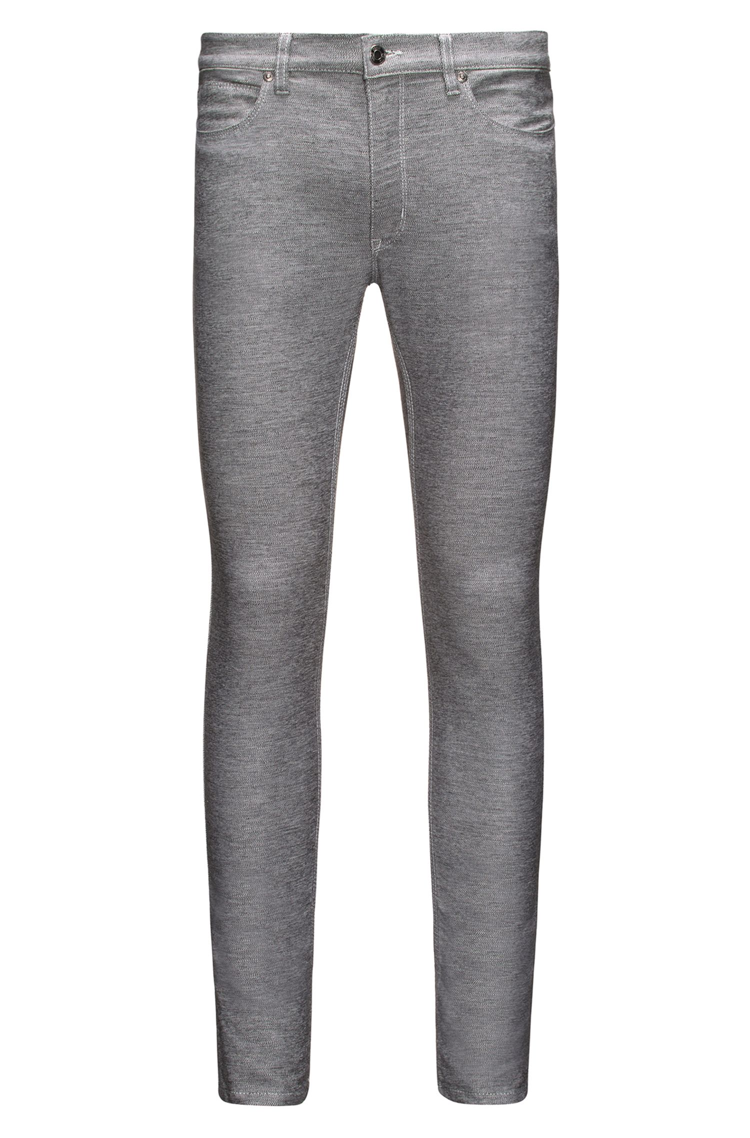 Skinny-fit jeans in dark-grey stretch jersey