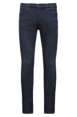 Jeans skinny fit in comodo denim blu-nero elasticizzato, Blu