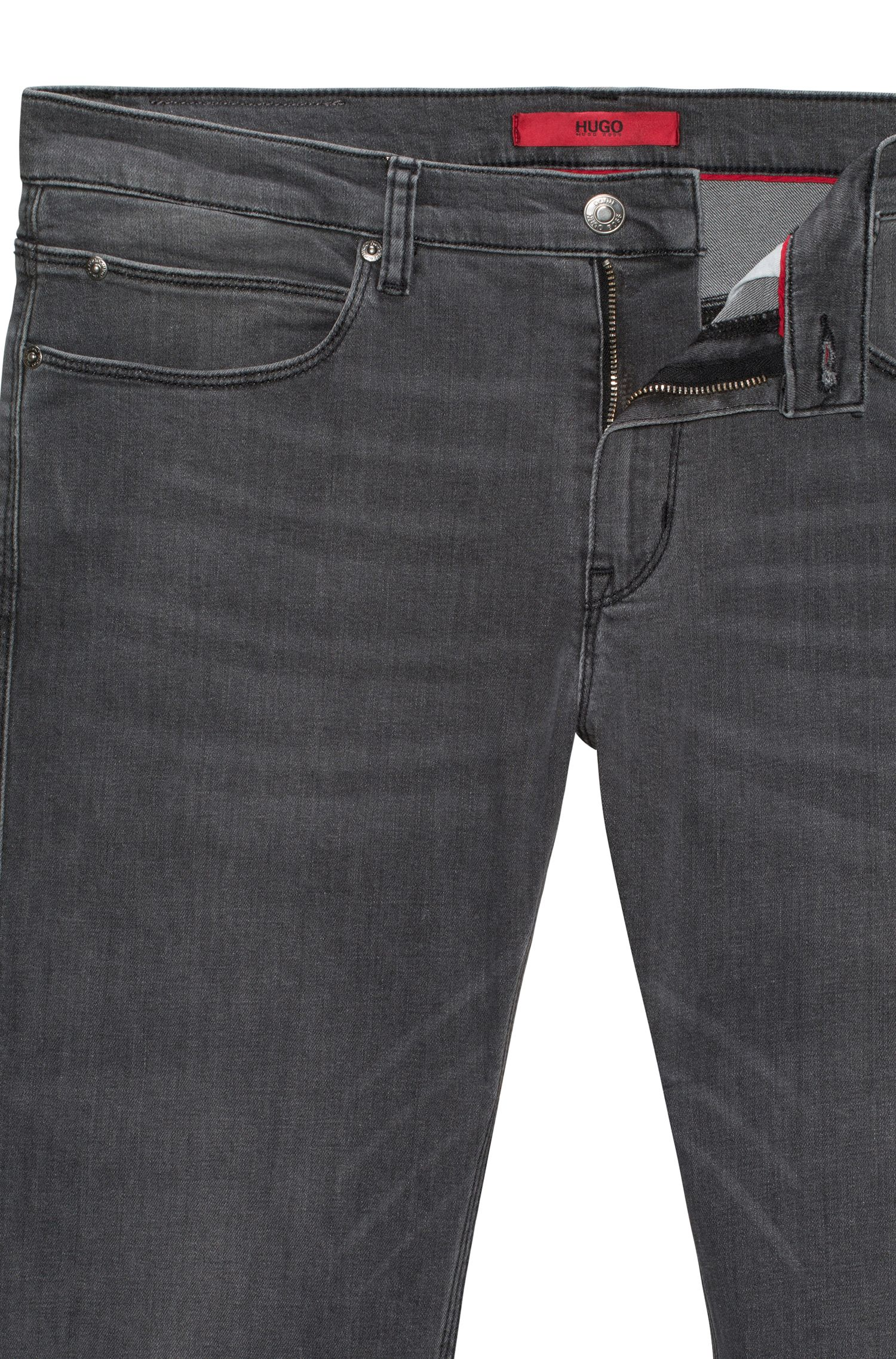 Slim-Fit Jeans aus komfortablem Stone-washed Denim