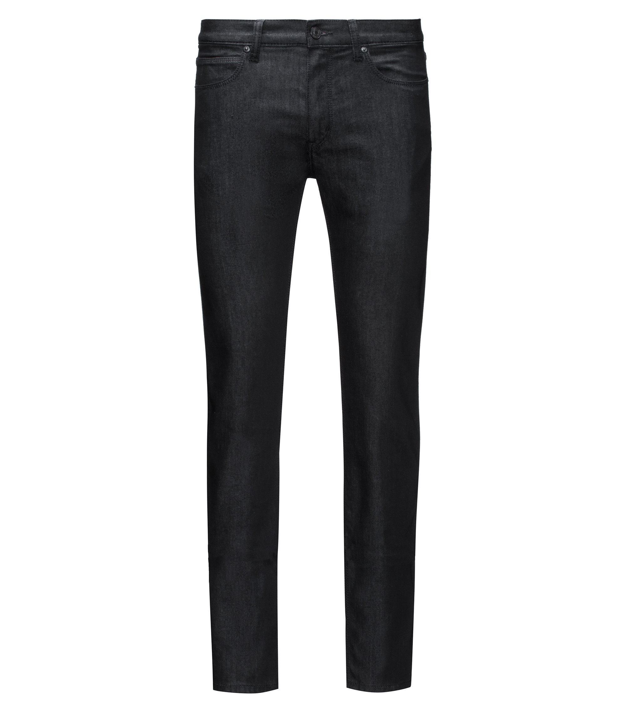 Jeans Slim Fit en denim stretch confortable, Noir