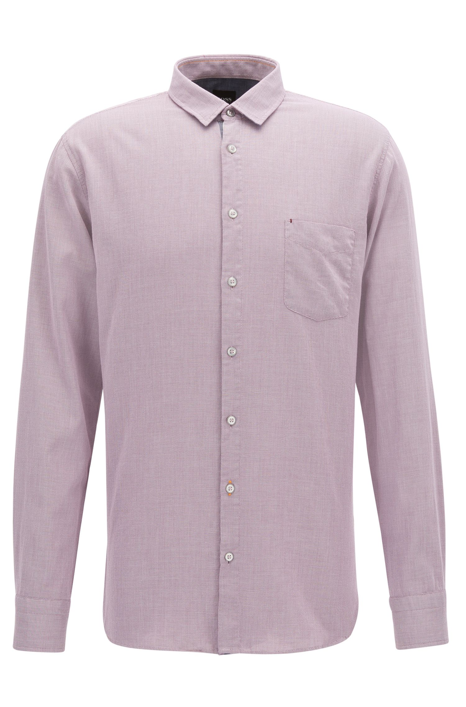 Slim-fit shirt in micro-structure cotton