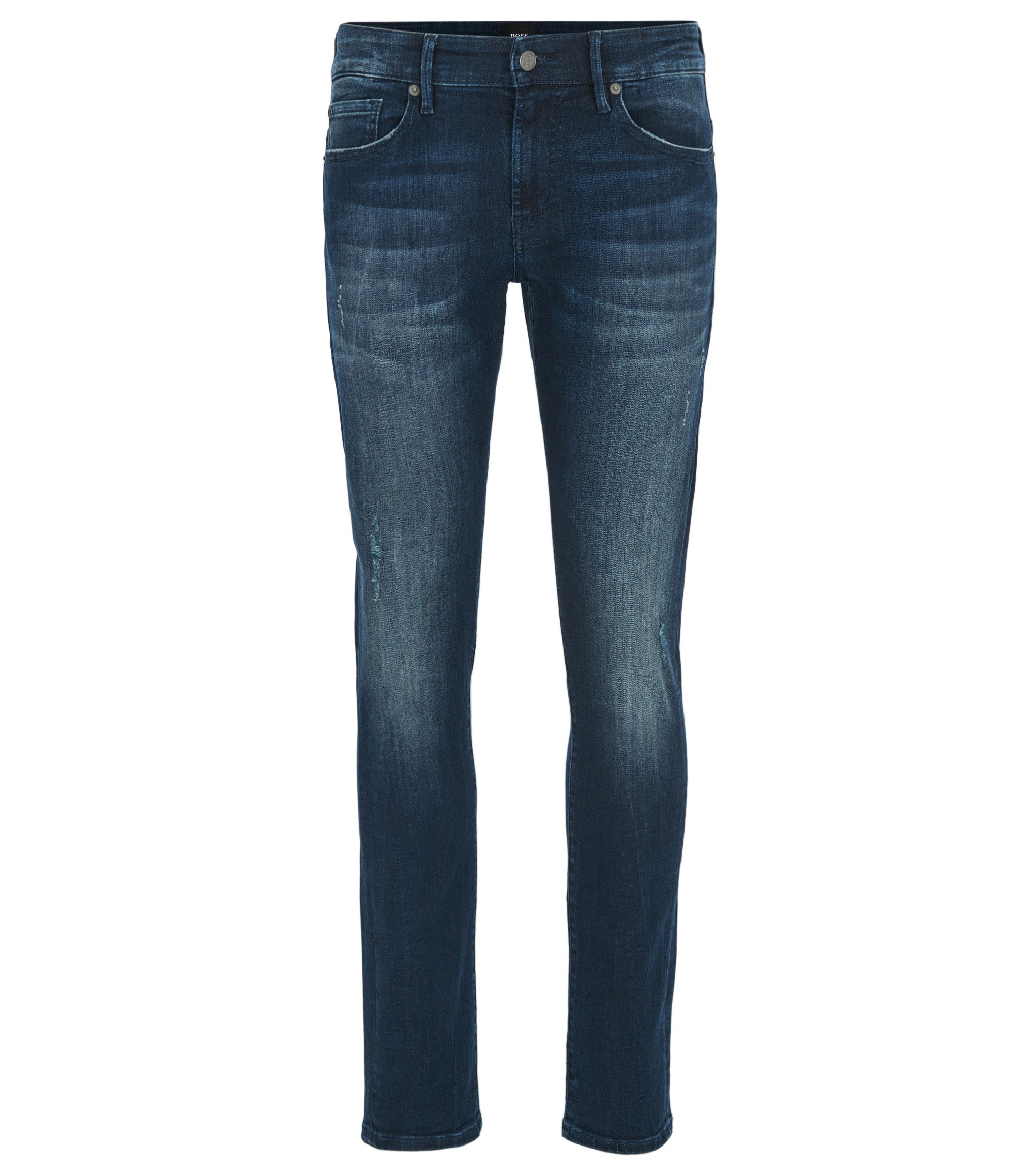 Skinny-fit super-stretch jeans in deep indigo, Dark Blue