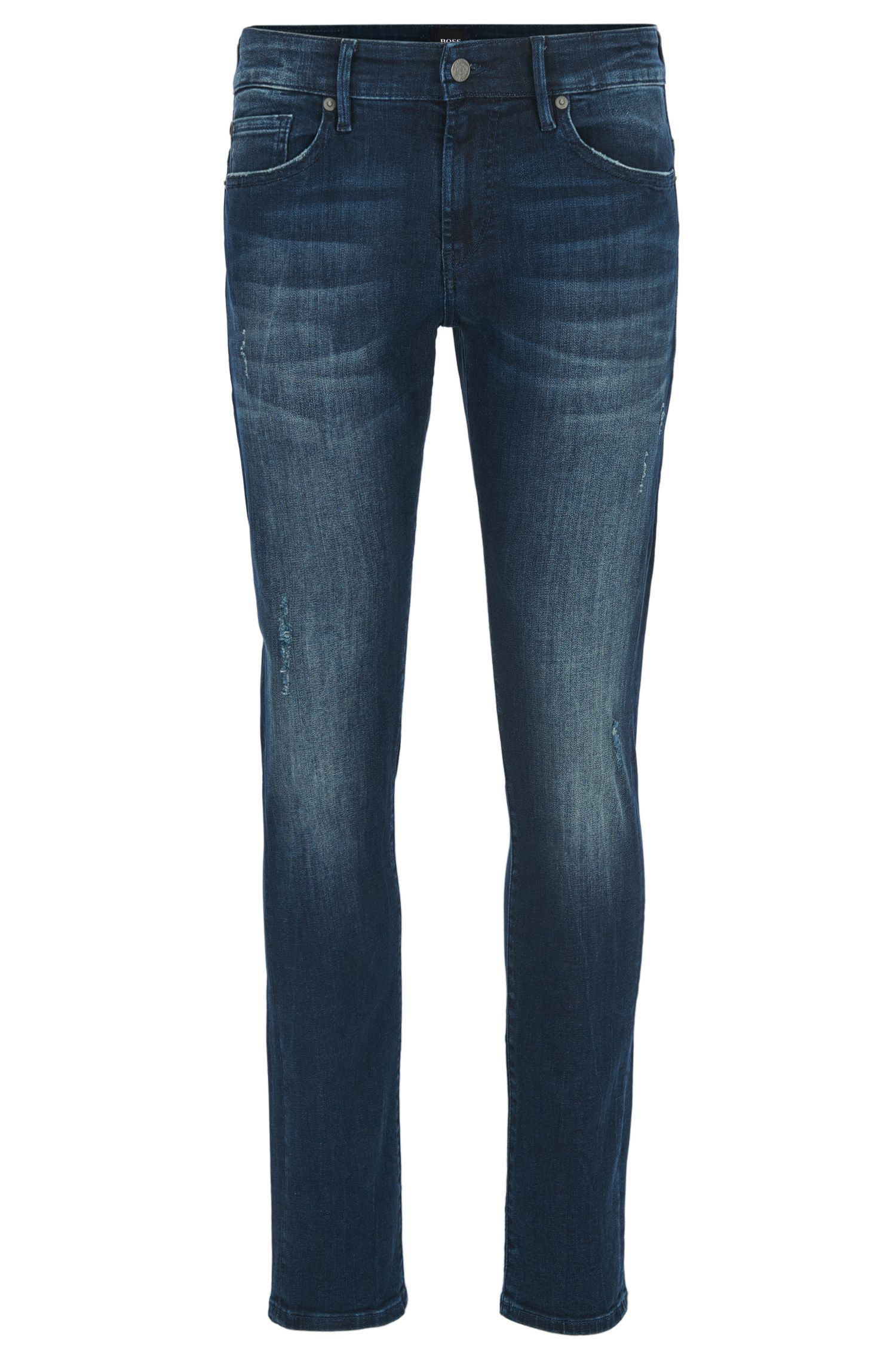 Skinny-fit super-stretch jeans in deep indigo