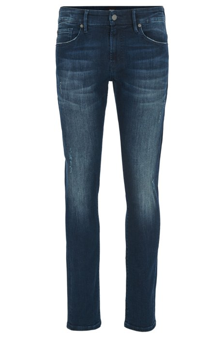 Cheap Best Wholesale Skinny-fit super-stretch jeans in deep indigo BOSS Buy Cheap Cheapest Clearance Brand New Unisex Ue5pOV