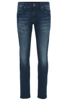 Skinny-Fit Jeans aus Super Stretch-Denim, Dunkelblau
