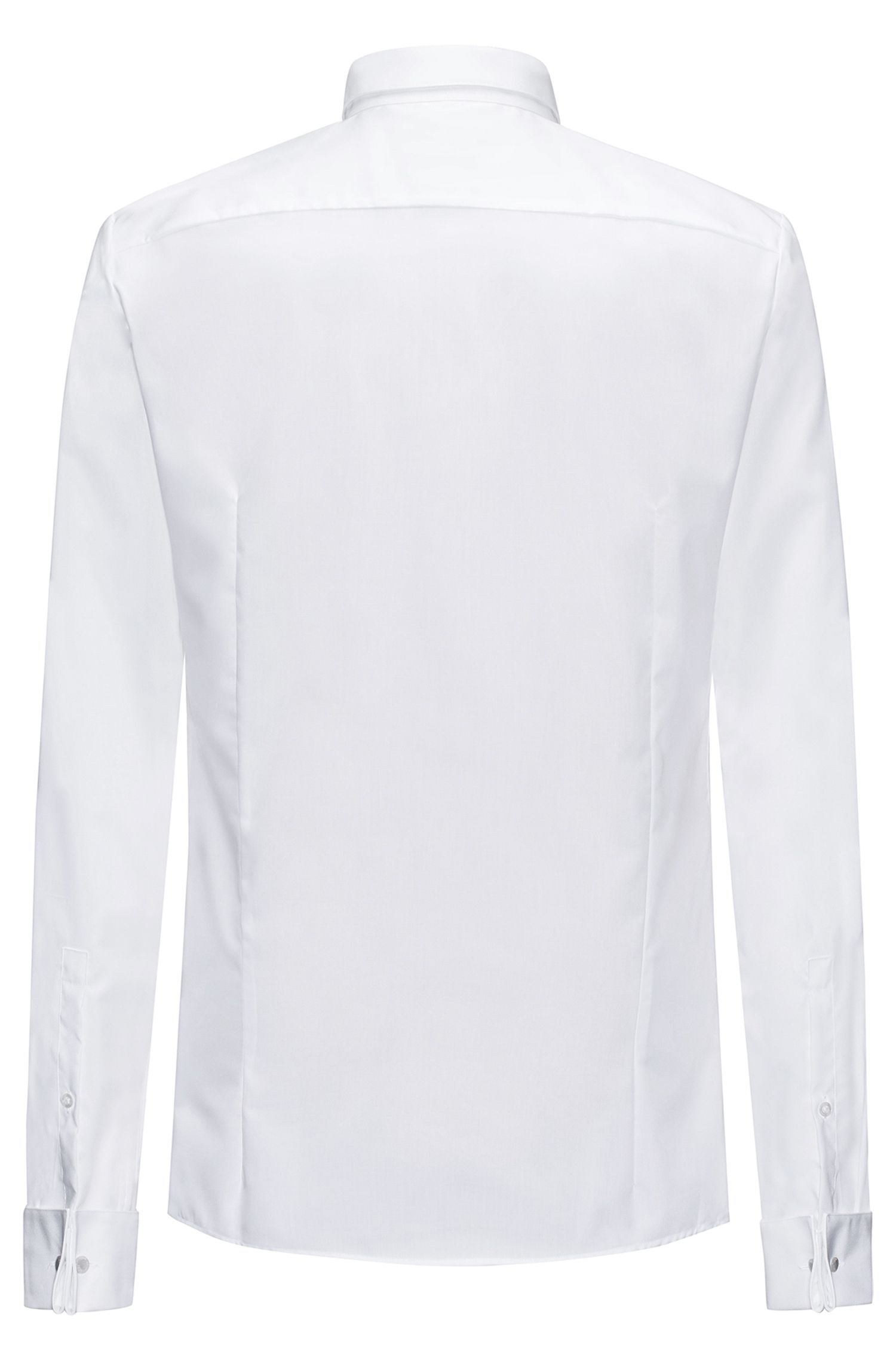 Extra-slim-fit cotton shirt with concealed placket