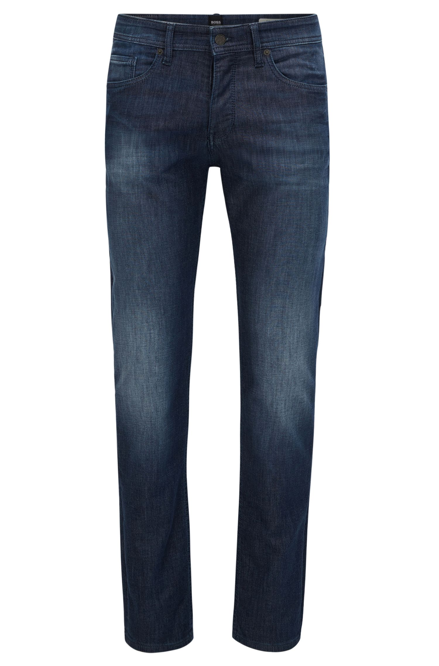 Tapered-Fit Jeans aus gestricktem Baumwoll-Mix