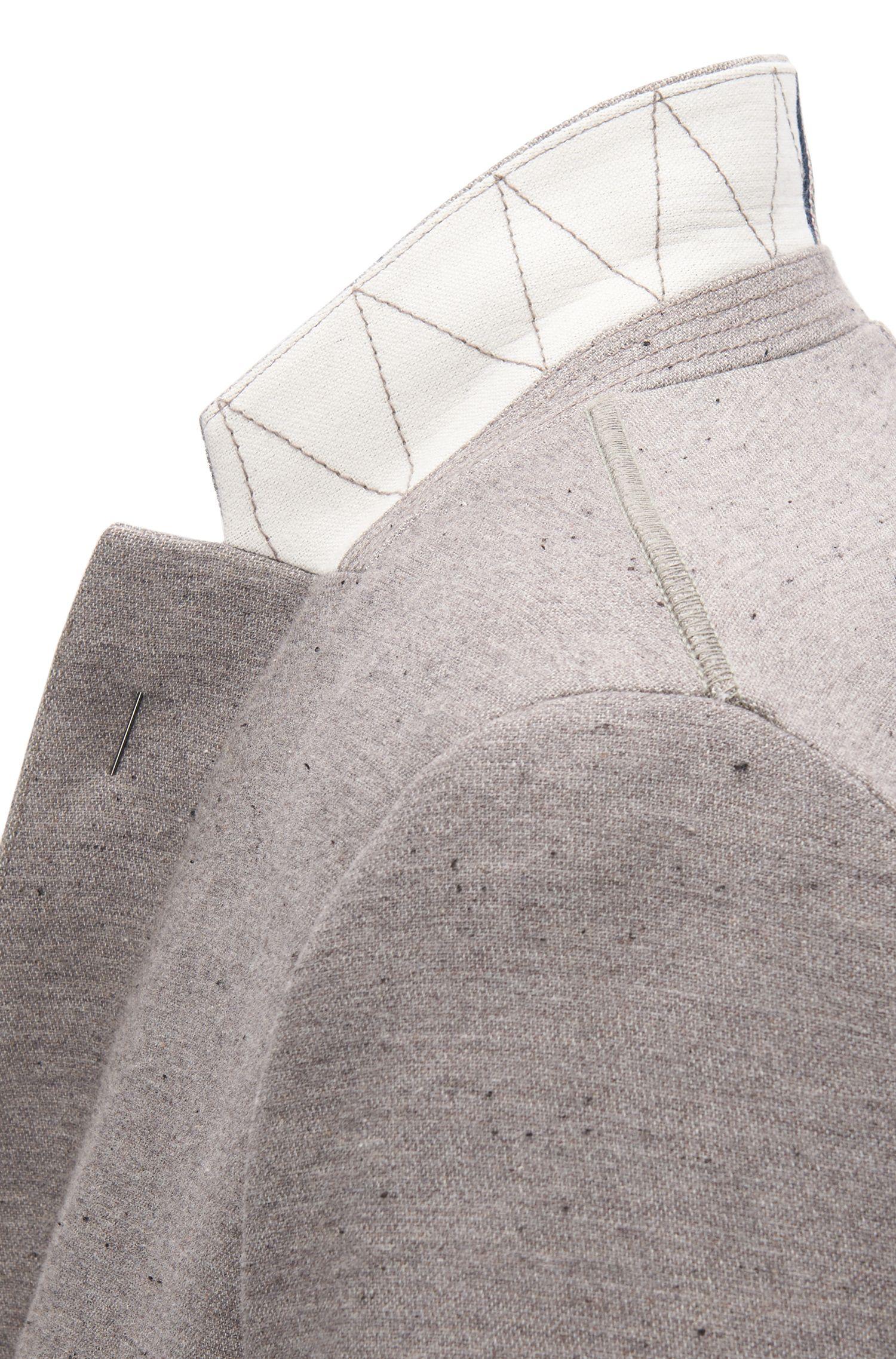 Chaqueta slim fit en mezcla de algodón