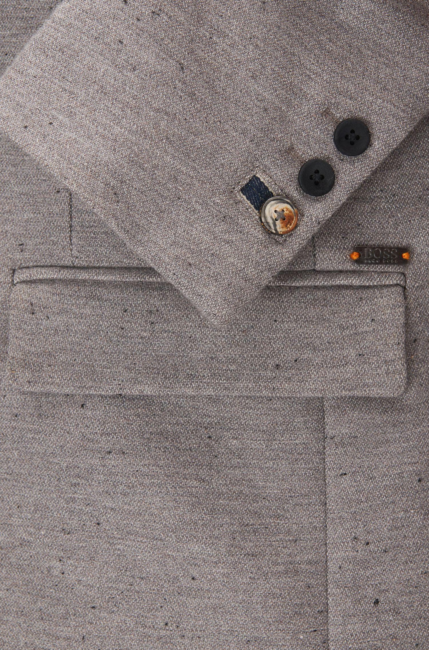 Giacca slim fit in misto cotone