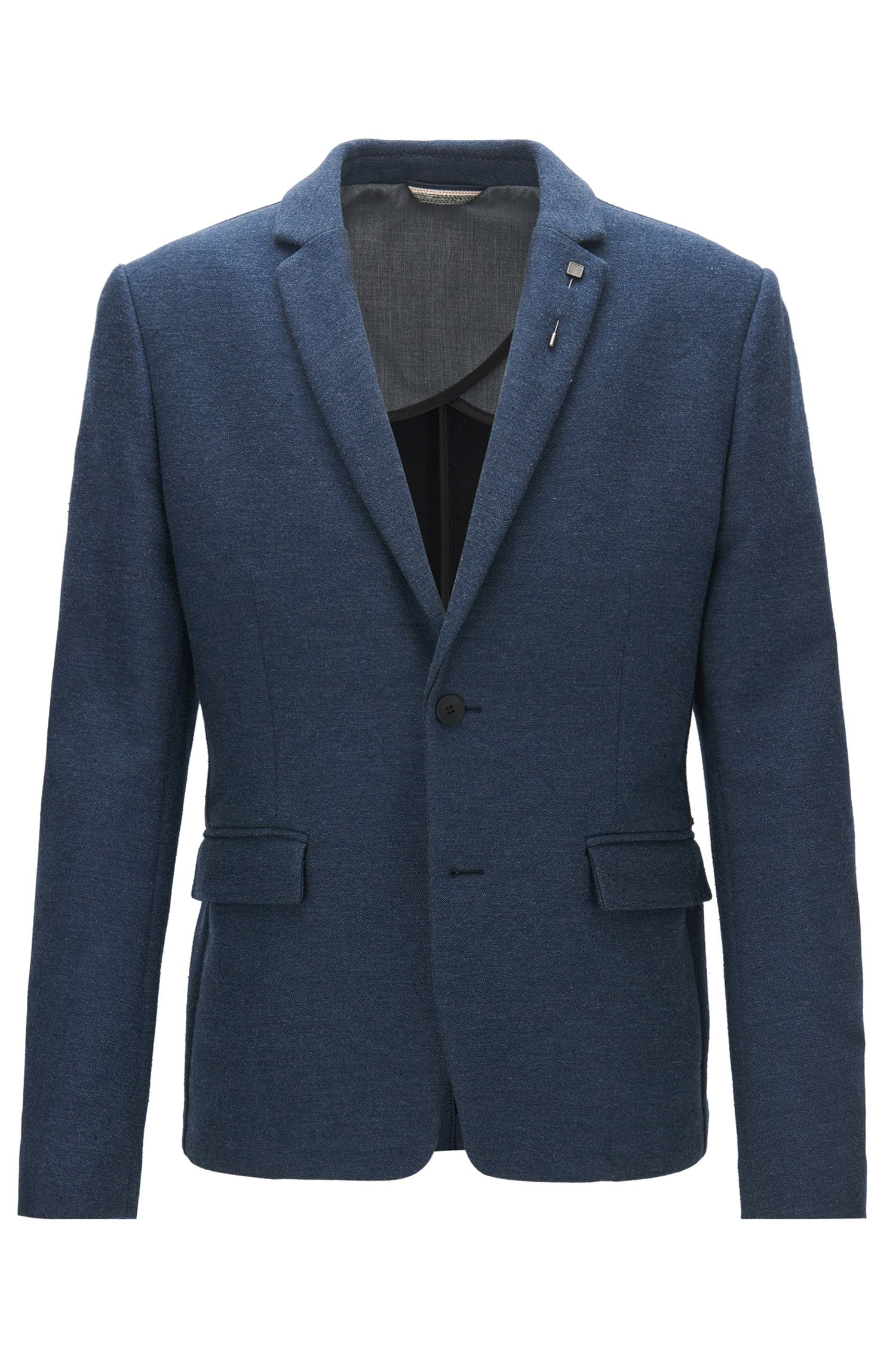 Slim-fit jacket in a cotton blend