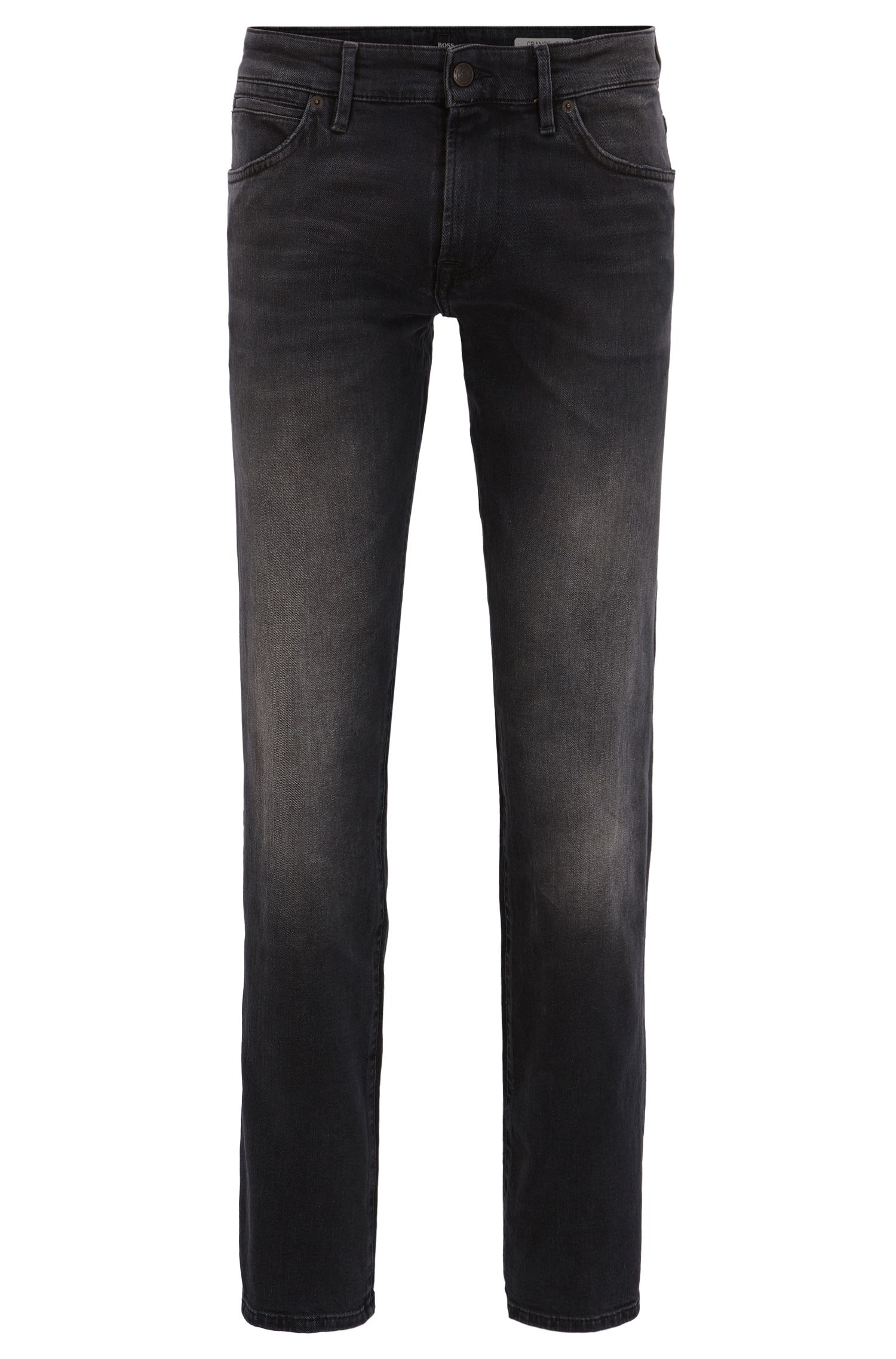 Regular-fit jeans in black comfort-stretch denim