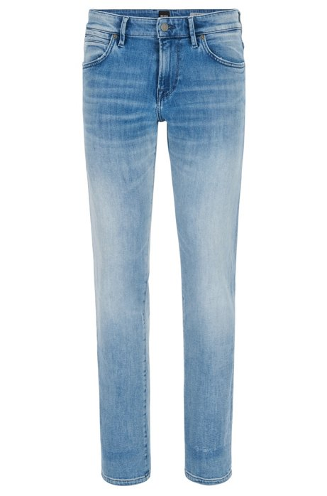 How Much Regular-fit jeans in washed stretch denim BOSS Outlet Huge Surprise JWo3IP9mYo