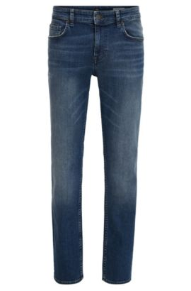 Jean Slim Fit en denim stretch confortable, Bleu