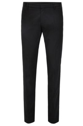 Pantaloni extra slim fit in cotone Pima, Nero