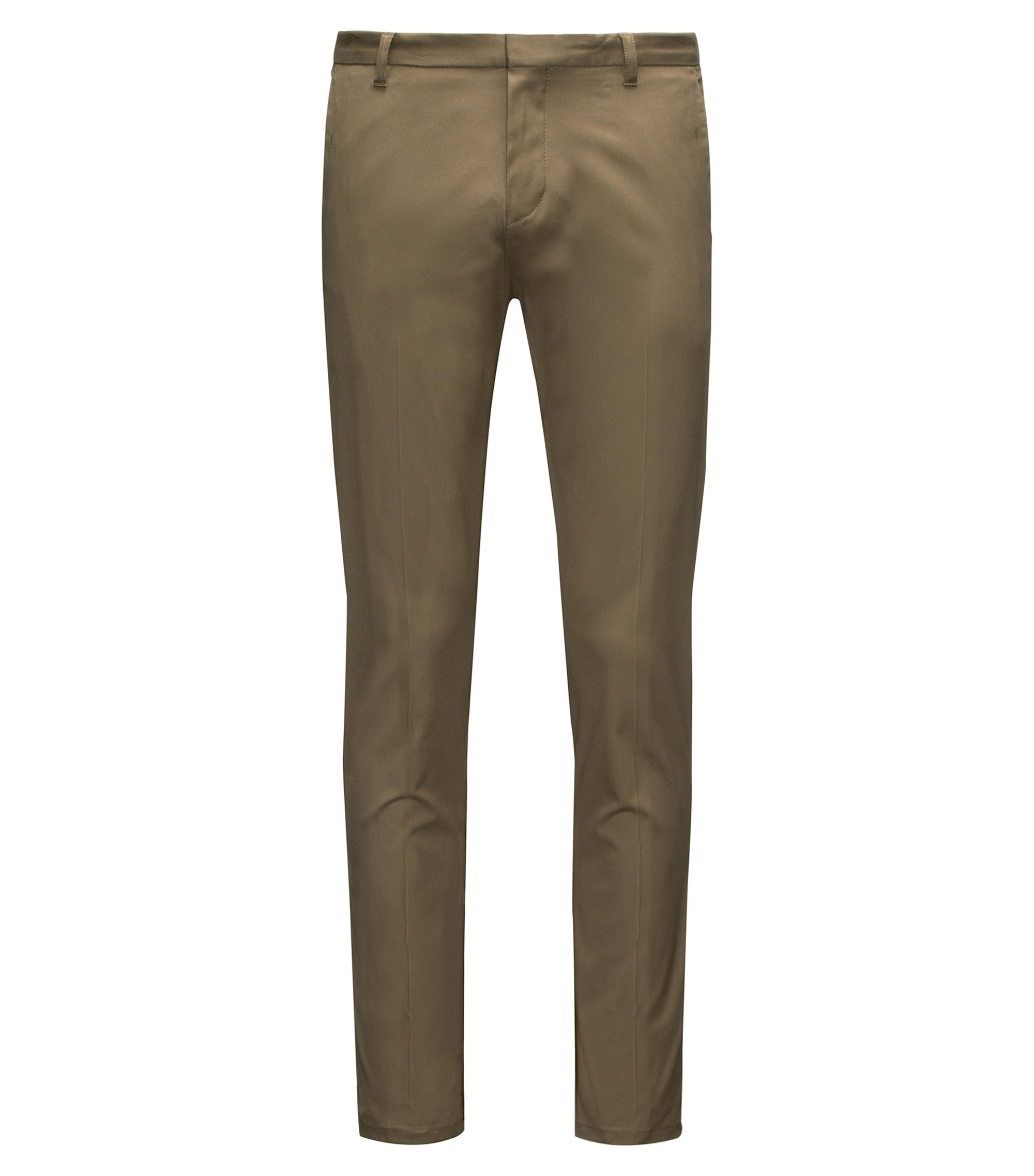 Extra-slim-fit trousers in pima cotton, Dark Green