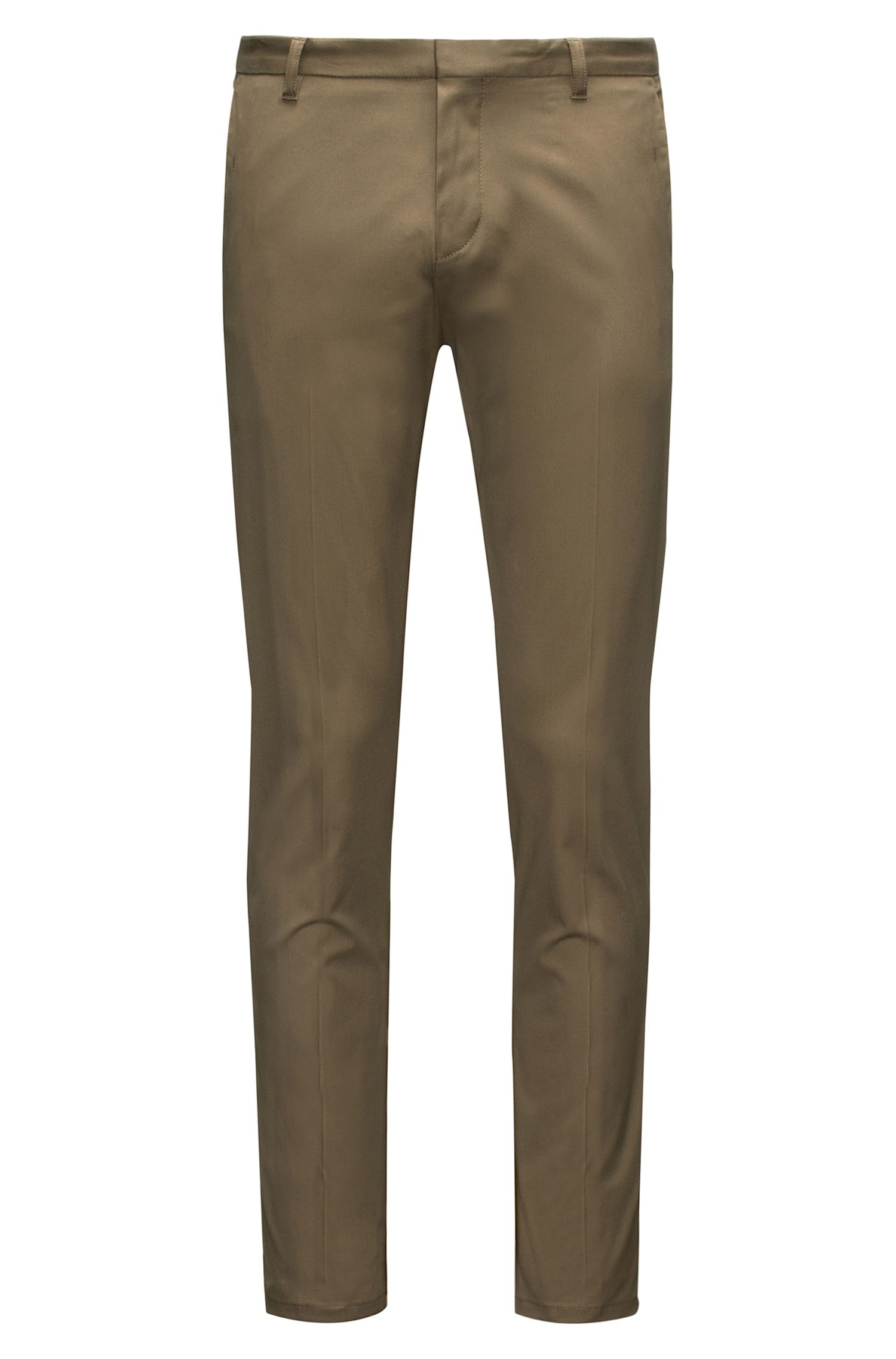Extra-slim-fit trousers in pima cotton