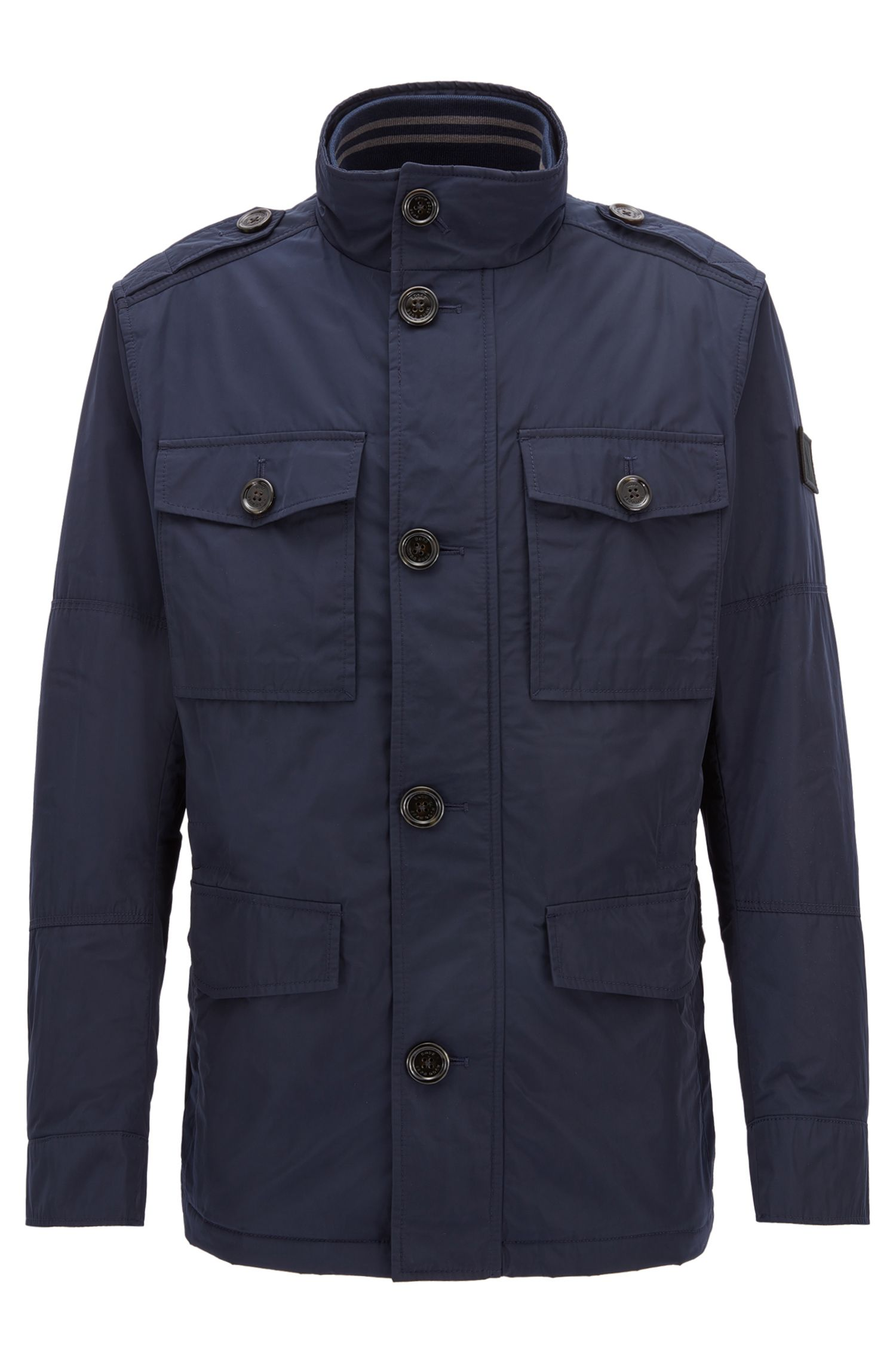 Regular-fit utility jacket in water-repellent fabric