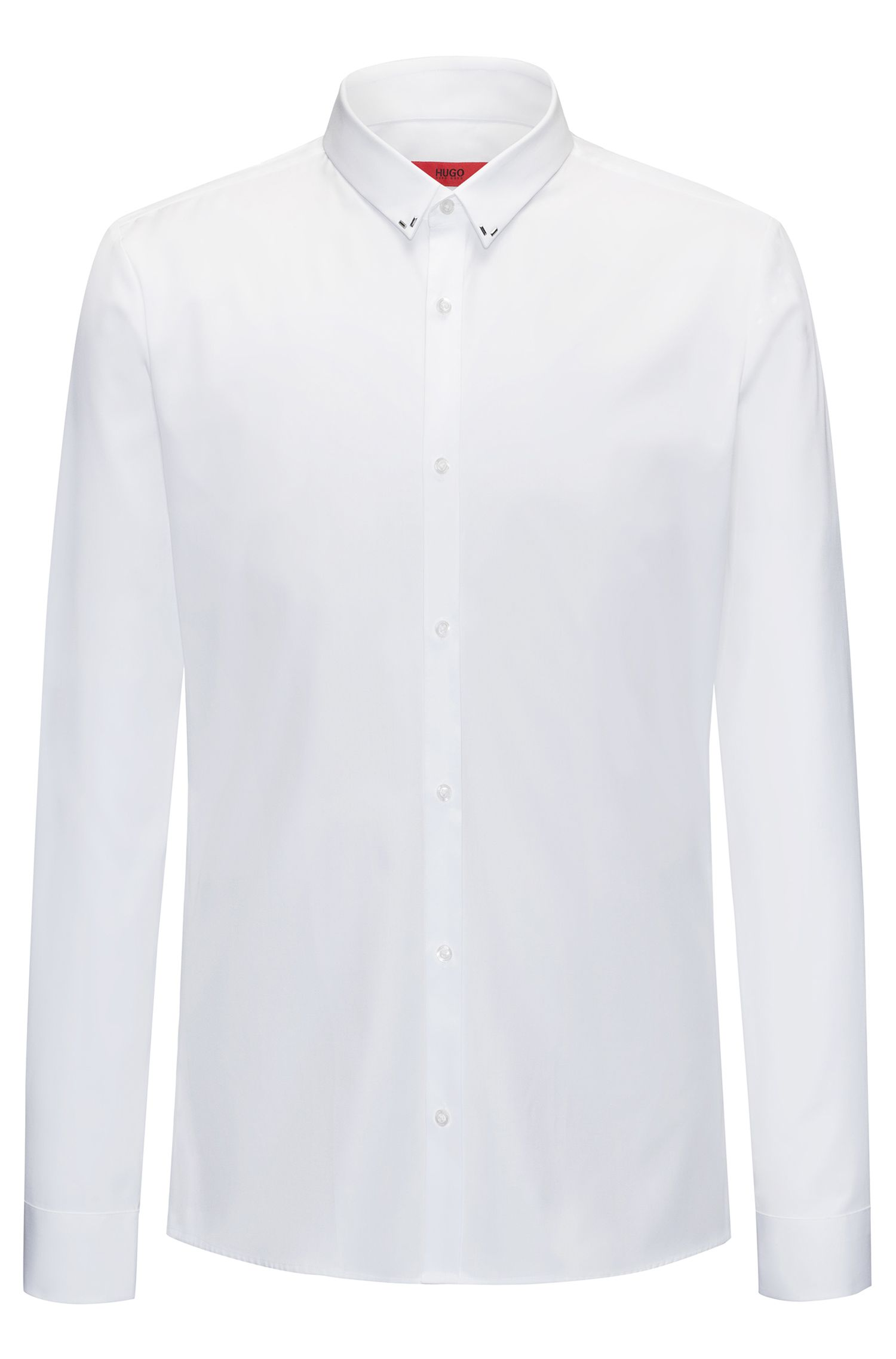 Slim-Fit Hemd aus Baumwoll-Popeline