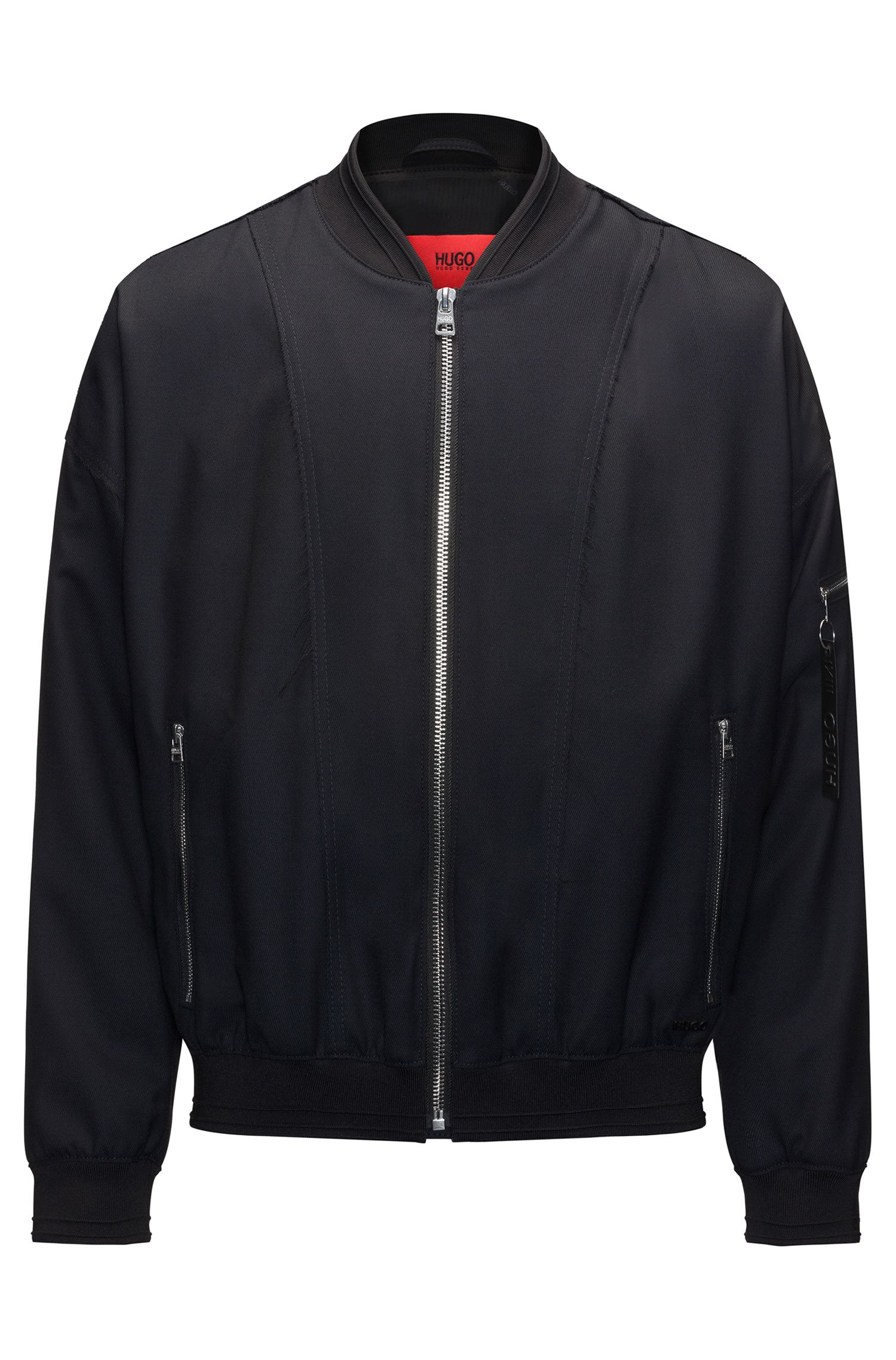 Relaxed-fit bomber jacket in a wool blend