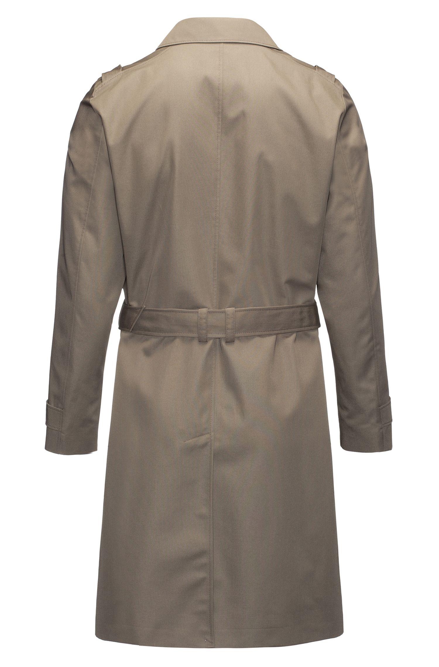 Regular-fit water-repellent technical trench coat