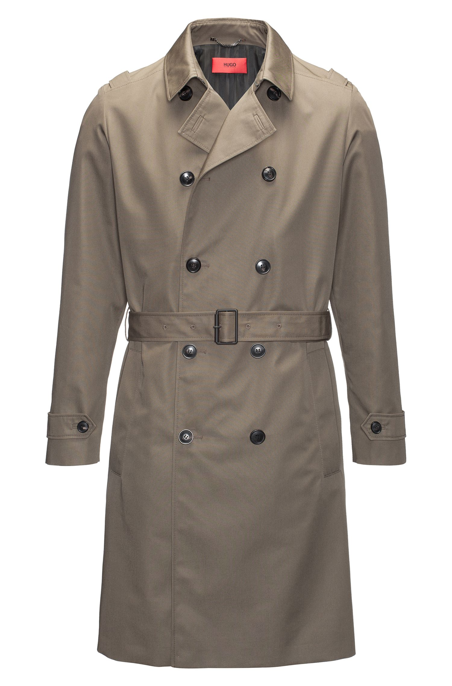 Trench regular fit in tessuto tecnico idrorepellente