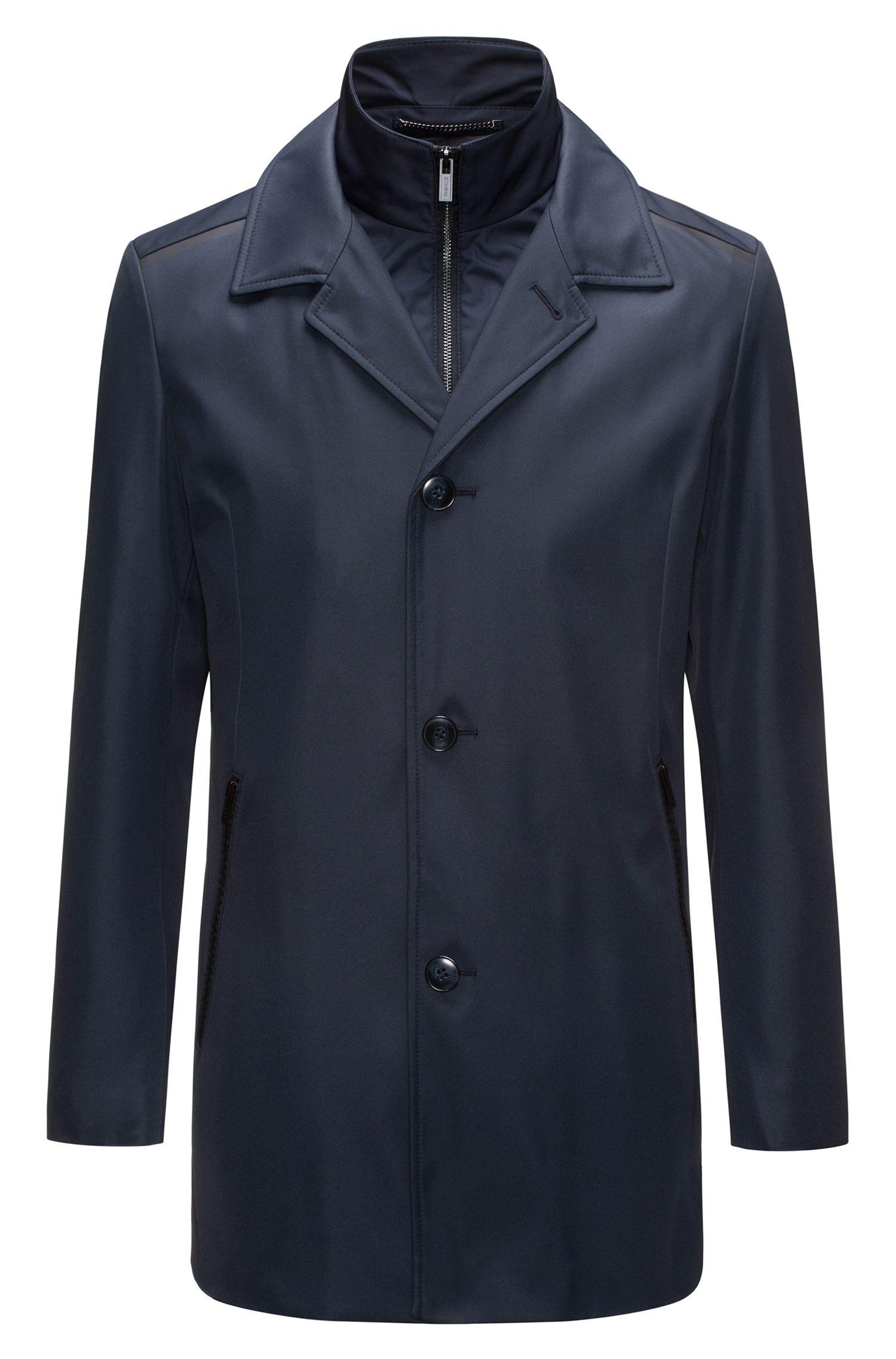 Regular-fit jas van technisch materiaal met uitneembare voering