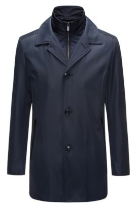 Regular-fit technical jacket with detachable lining, Dark Blue